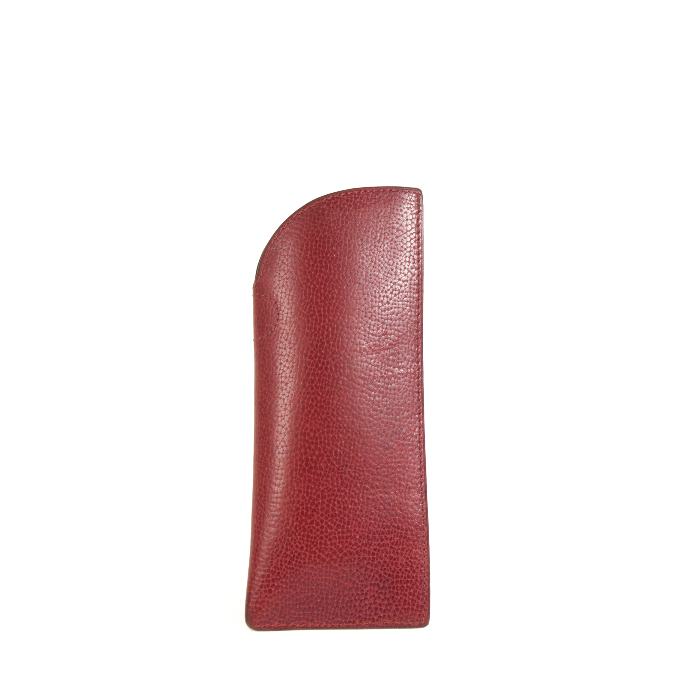 Delvaux Red Leather Glasses Case