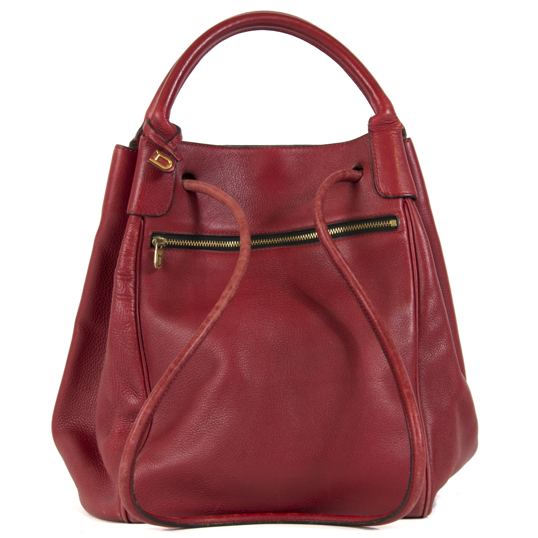 Delvaux Red Leather Shoulder Bag