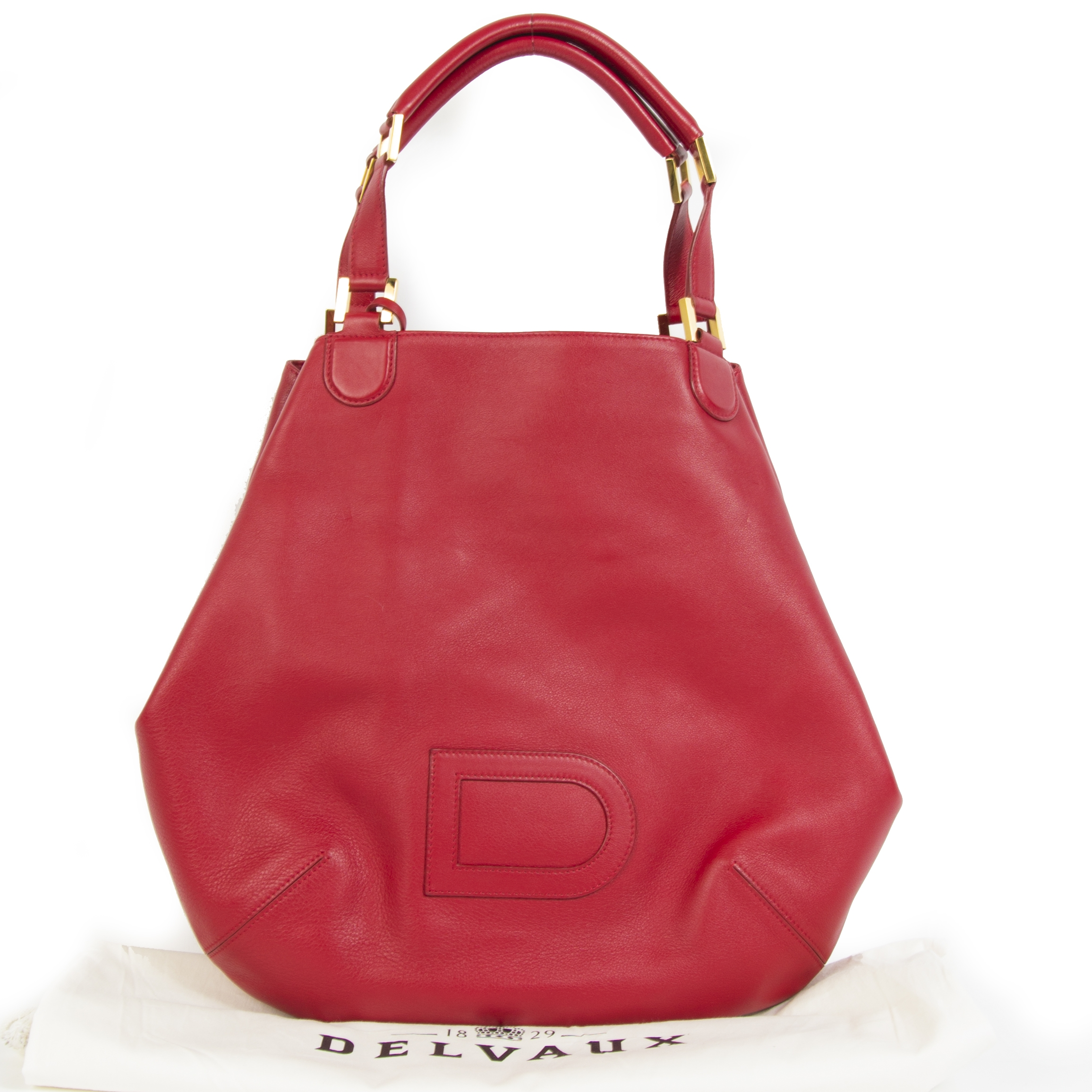 Delvaux 'Le Louise' Red Leather Shoulder Bag