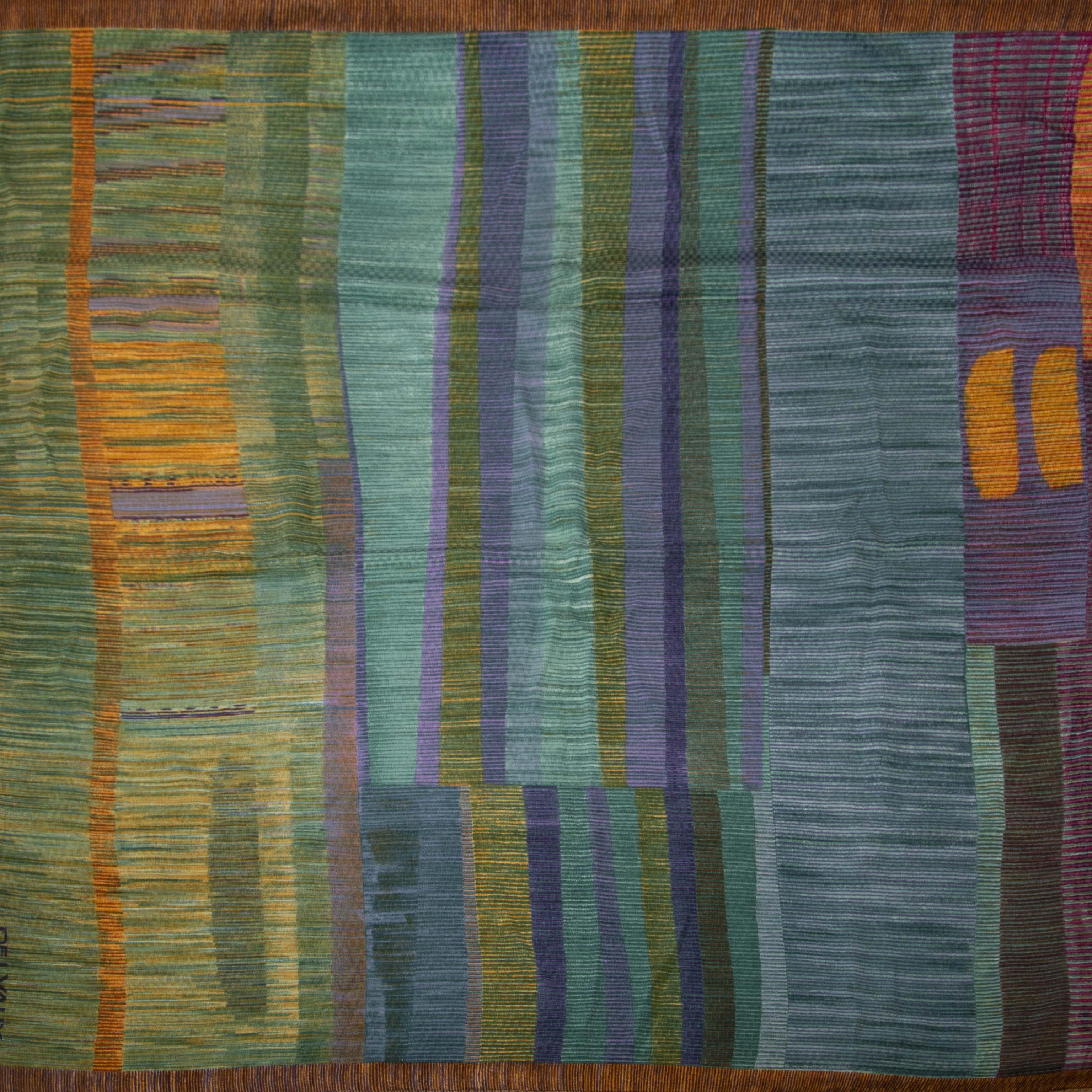 Delvaux Silk Multicolor Scarf