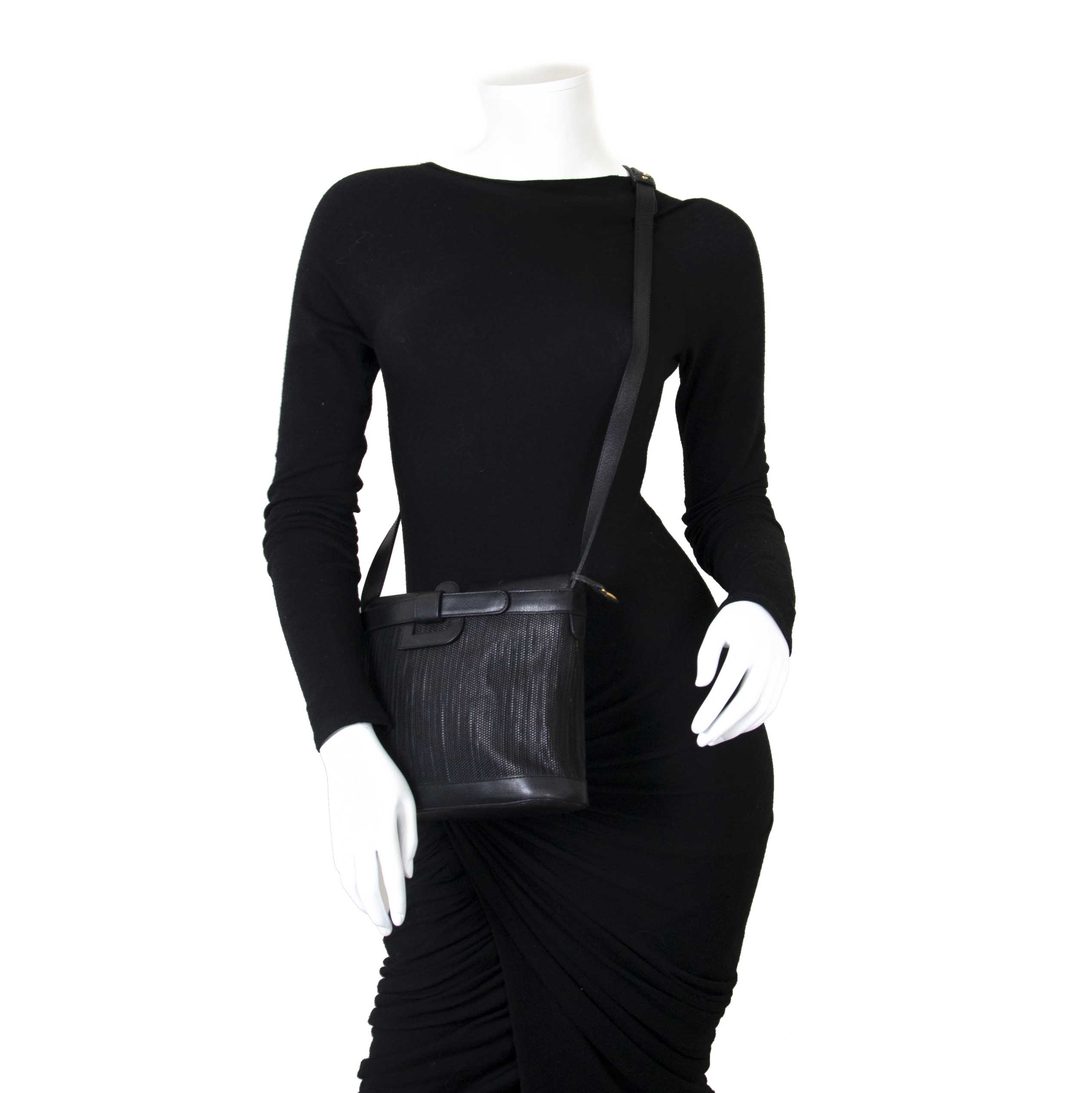 74d3b5ff4a ... Delvaux Black Toile De Cuir Shoulder Bag now for sale at labellov  vintage fashion webshop belgium