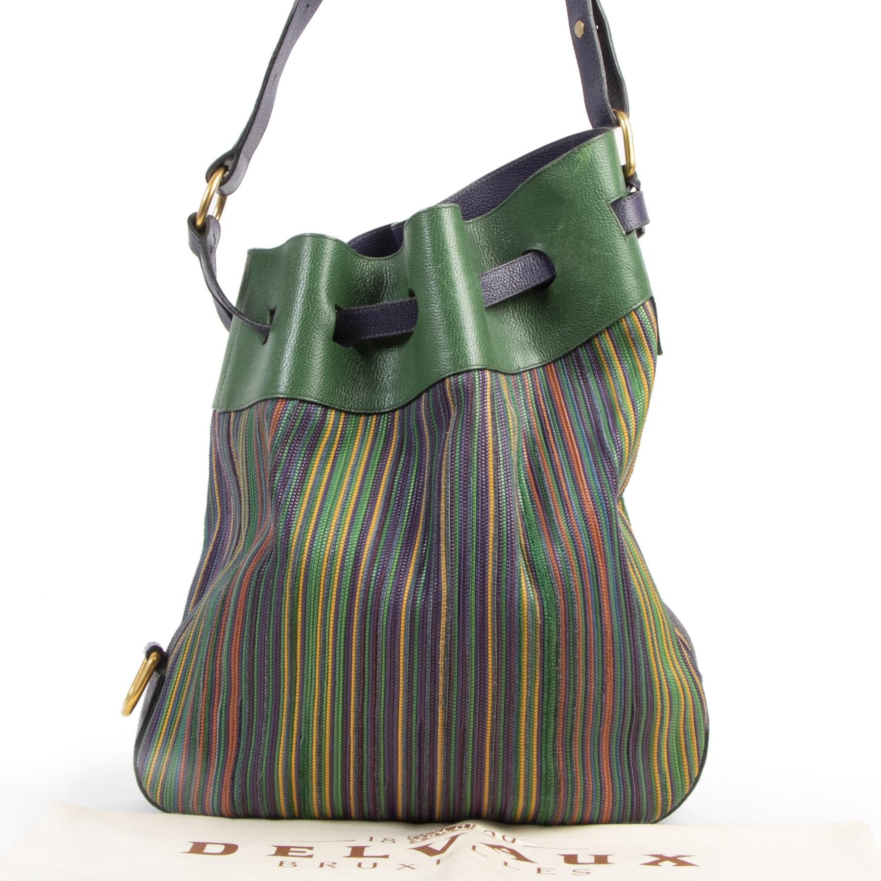 acheter en ligne seconde main Delvaux Toile De Cuire Shoulder Bag