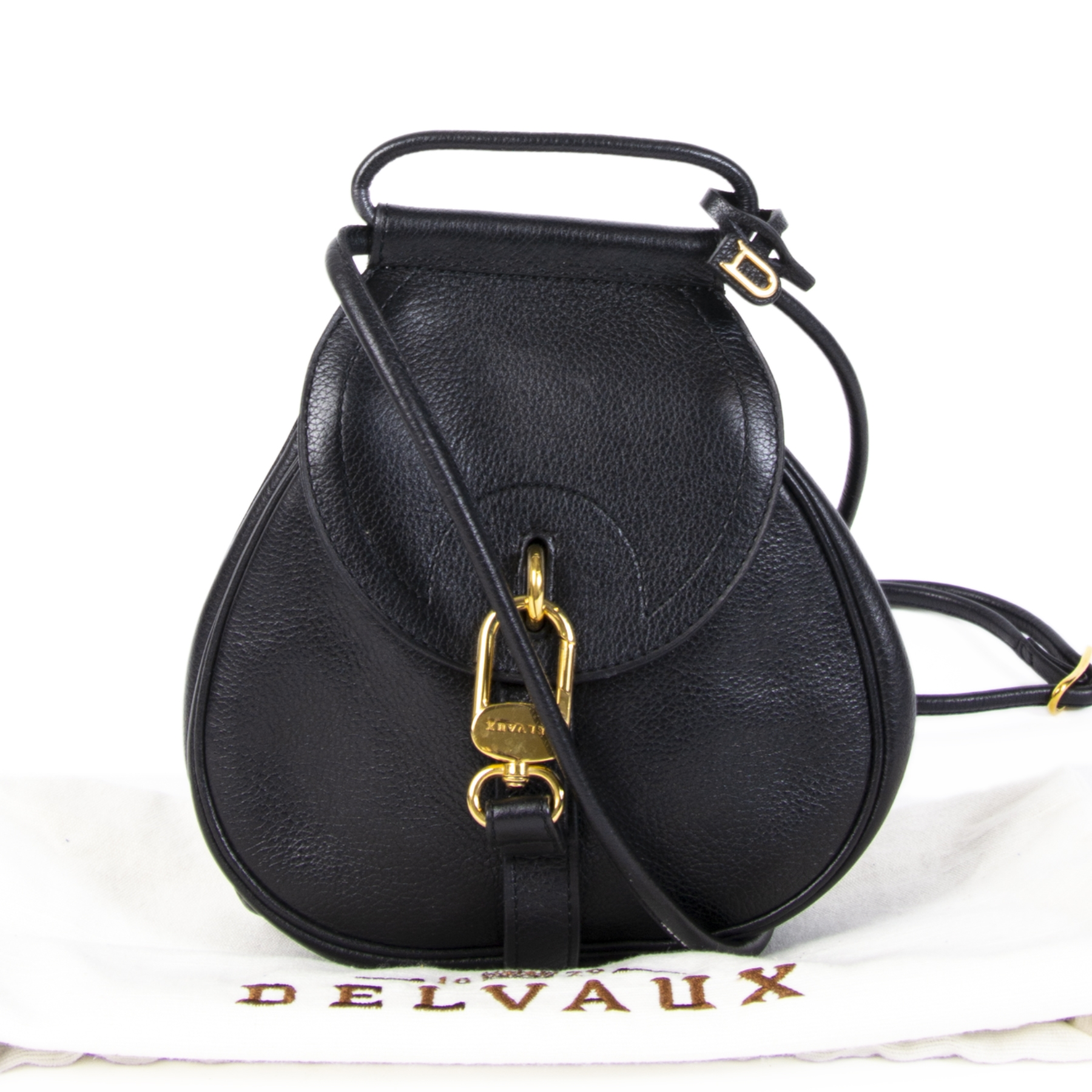 Delvaux Black Cerceau Mini Bag for the best price at Labellov secondhand luxury