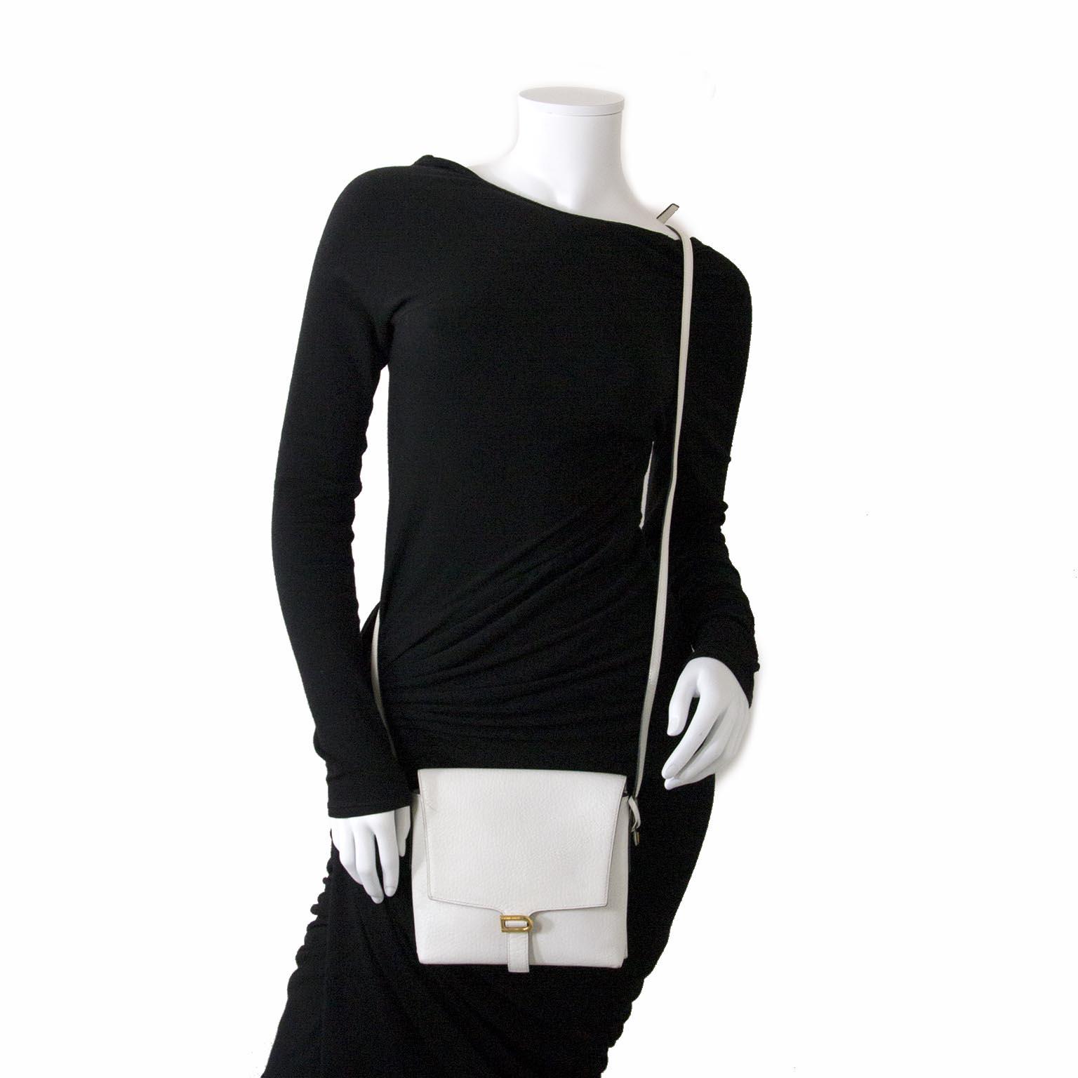 achète des sacs de delvaux blanc crossbody à labellov vintage webshop de mode belgique