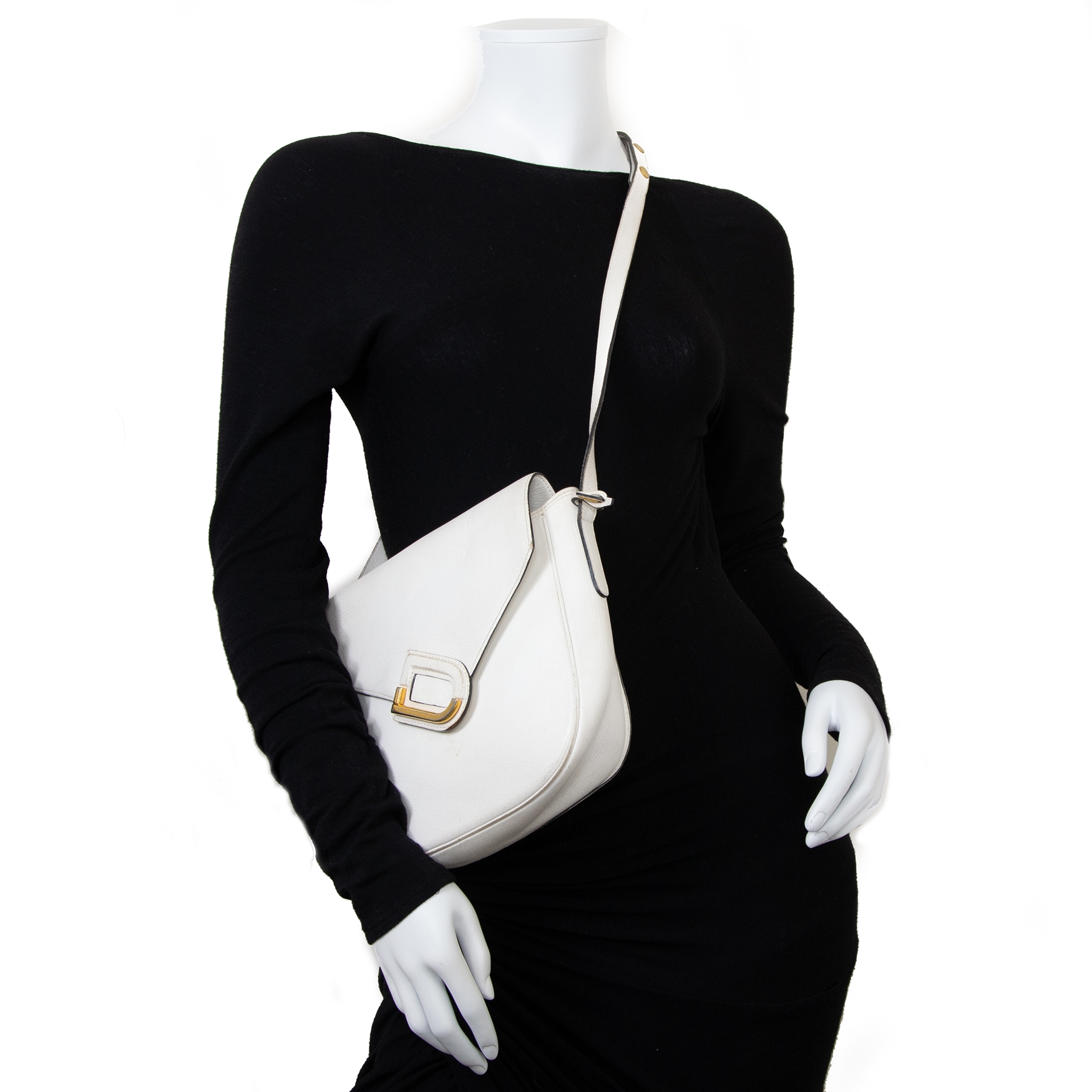 delvaux white leather crossbody bag now for sale at labellov vintage fashion webshop belgium