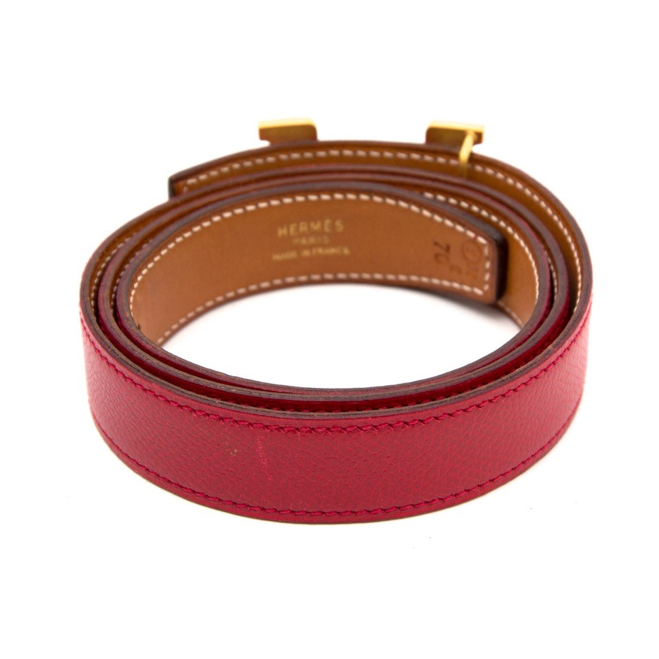 Vintage Hermes red H belt for the best price at Labellov webshop. Safe and secure online shopping with 100% authenticity. Vintage Hermes rouge H ceinture pour le meilleur prix.