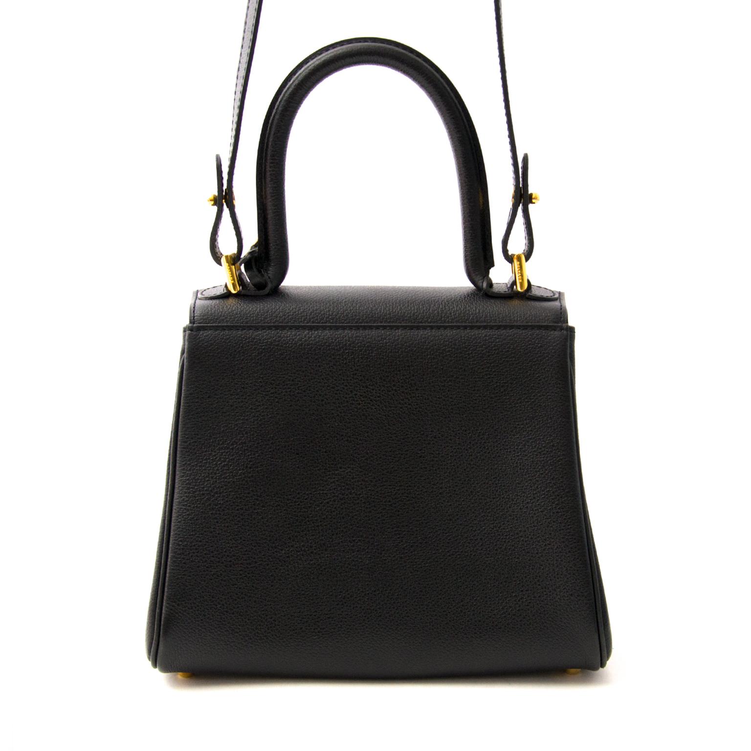 koop veilig online aan de best prijs Delvaux Brillant Dark Mini + Strap beste prijs als nieuw