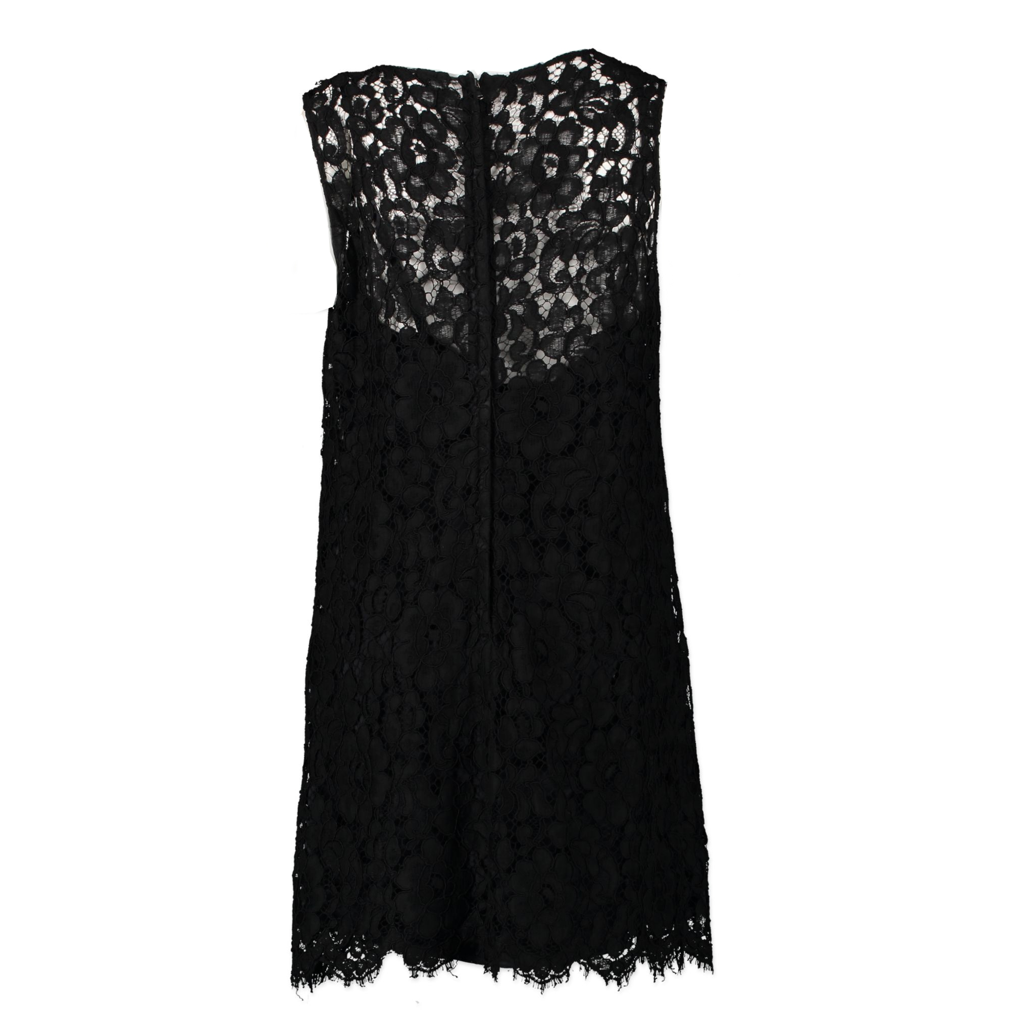 Authentic second-hand vintage Dolce & Gabbana Black Lace Dress at online webshop LabelLOV