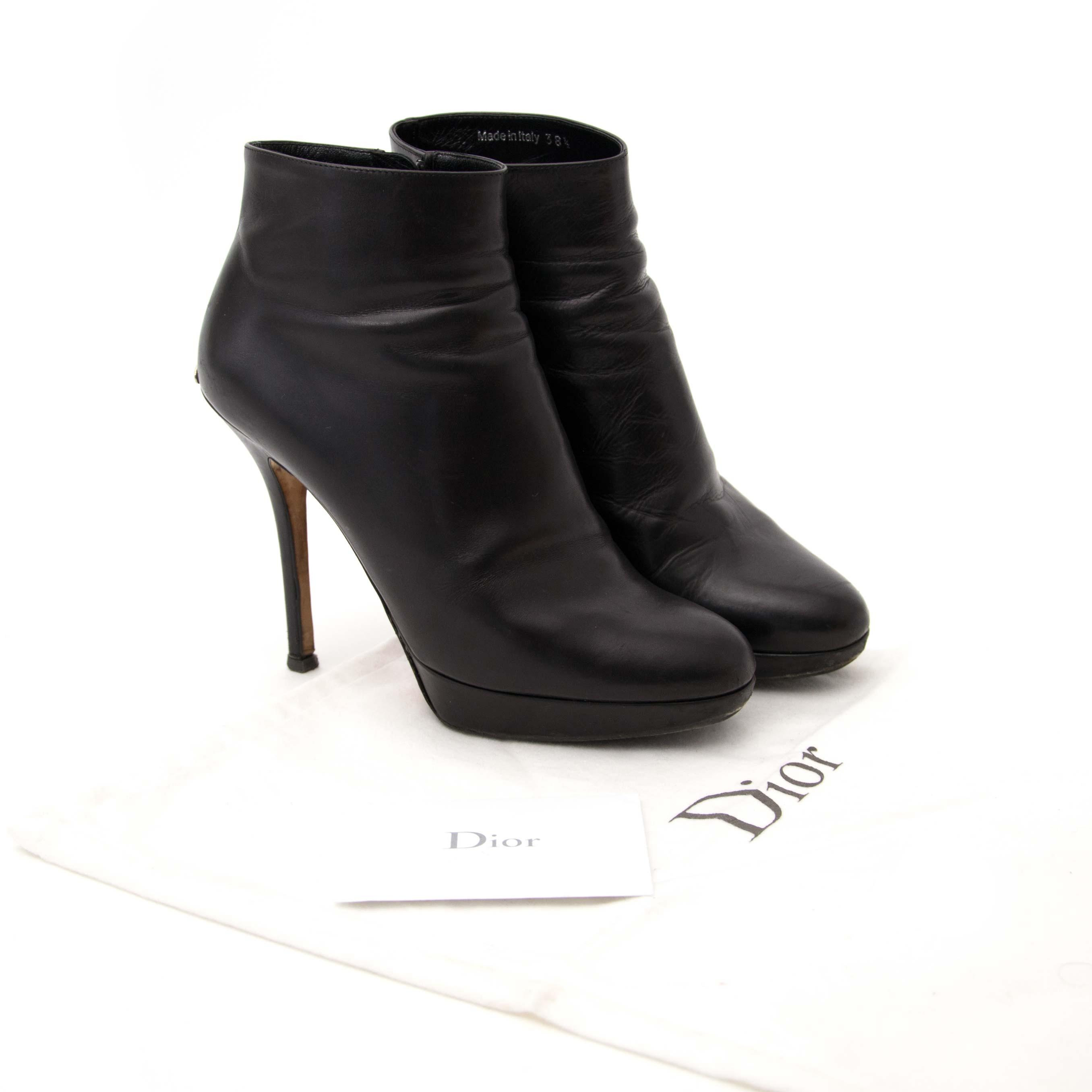 achter en ligne chez labellov.com pour le meilleur prix dior noir cannage chaussures en cuir
