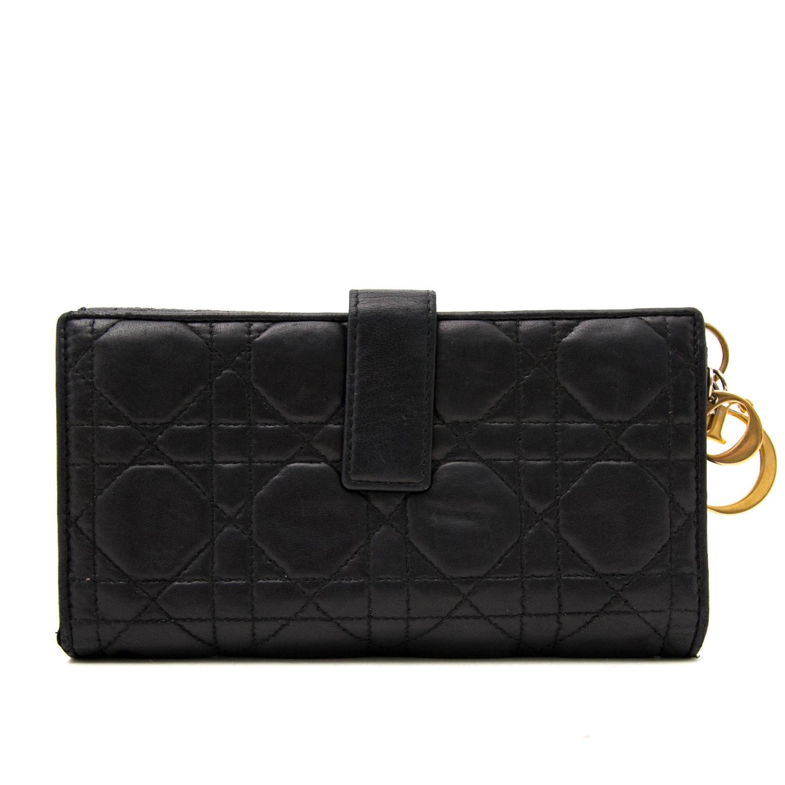 Shop safe online aan de beste prijs Lady Dior Black Lambskin Wallet