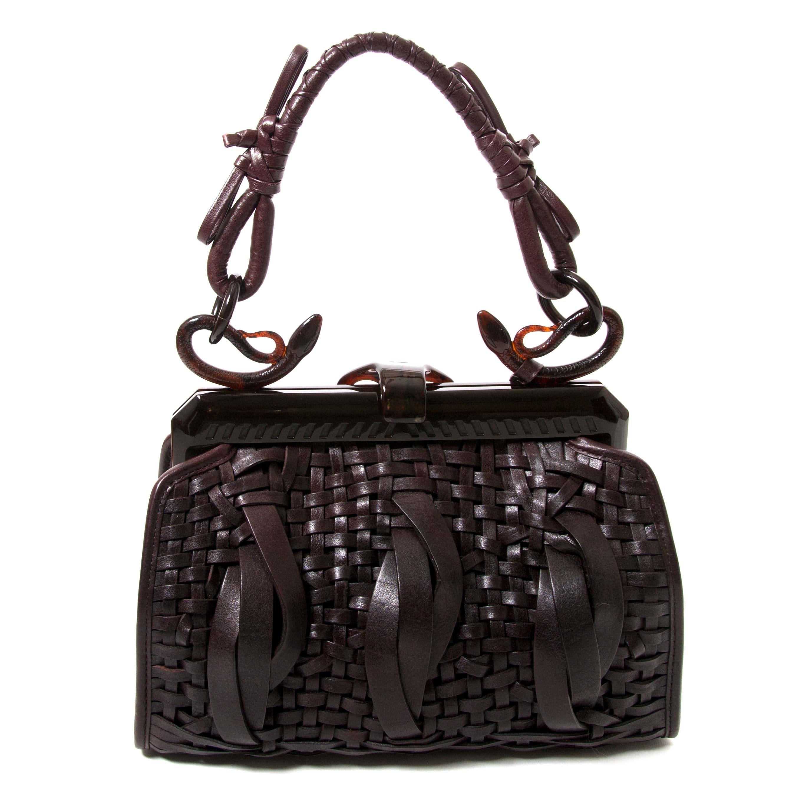 achetez Christian Dior Samourai 1947 Intrecciato Frame Bag  chez labellov pour le meileur prix