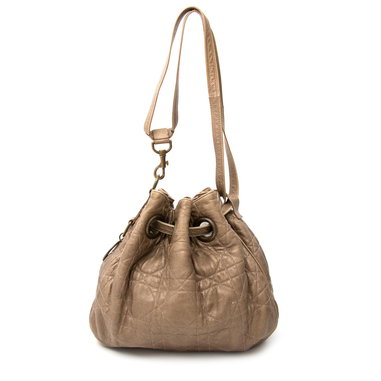 Acheter un Christian Dior Bronze Cannage Drawstring Bag  en ligne