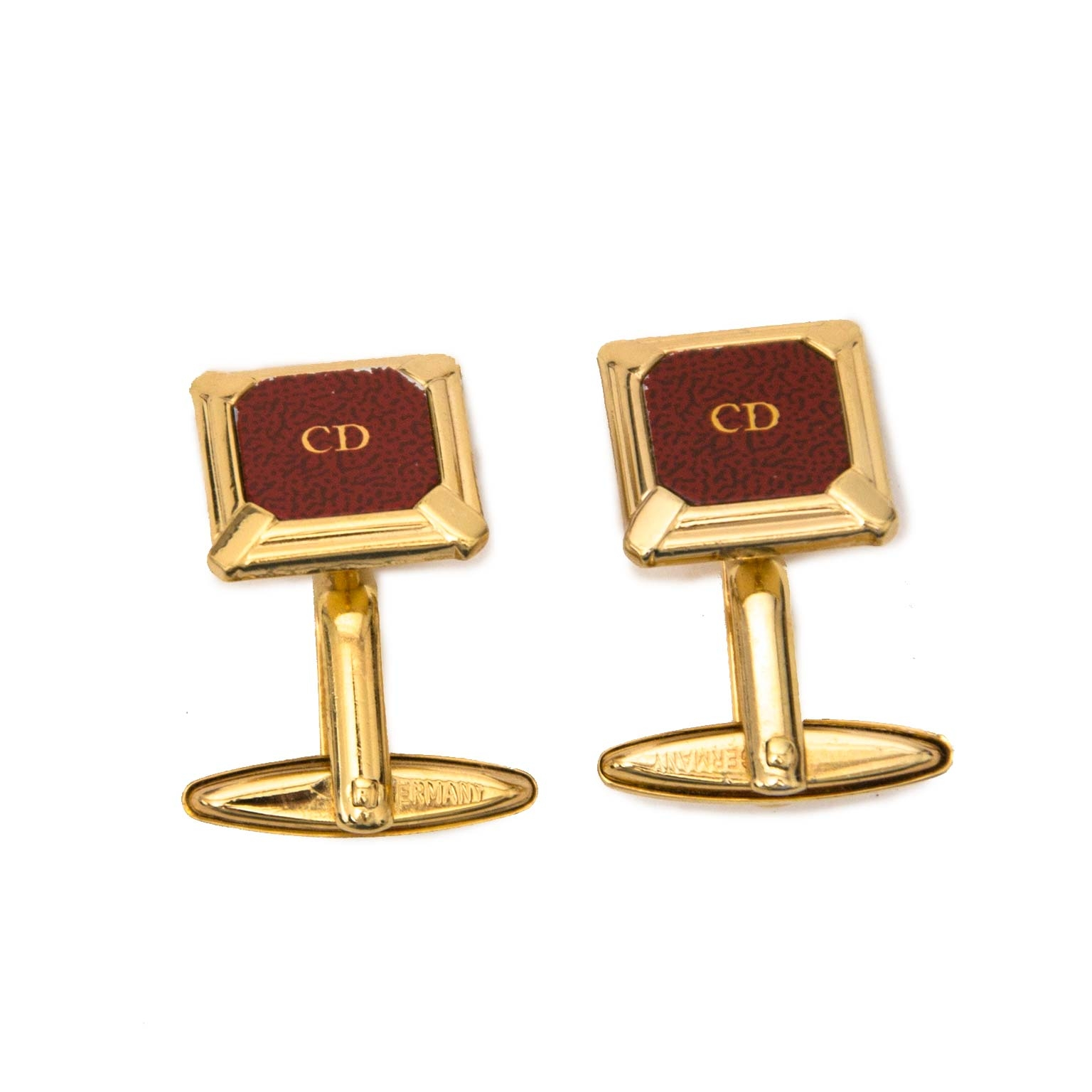 Christian Dior Monsieur Vintage Gold & Rust Cufflinks Buy authentic designer Dior secondhand cufflinks at Labellov at the best price. Safe and secure shopping. Koop tweedehands authentieke Dior manchetknopen bij designer webwinkel labellov.