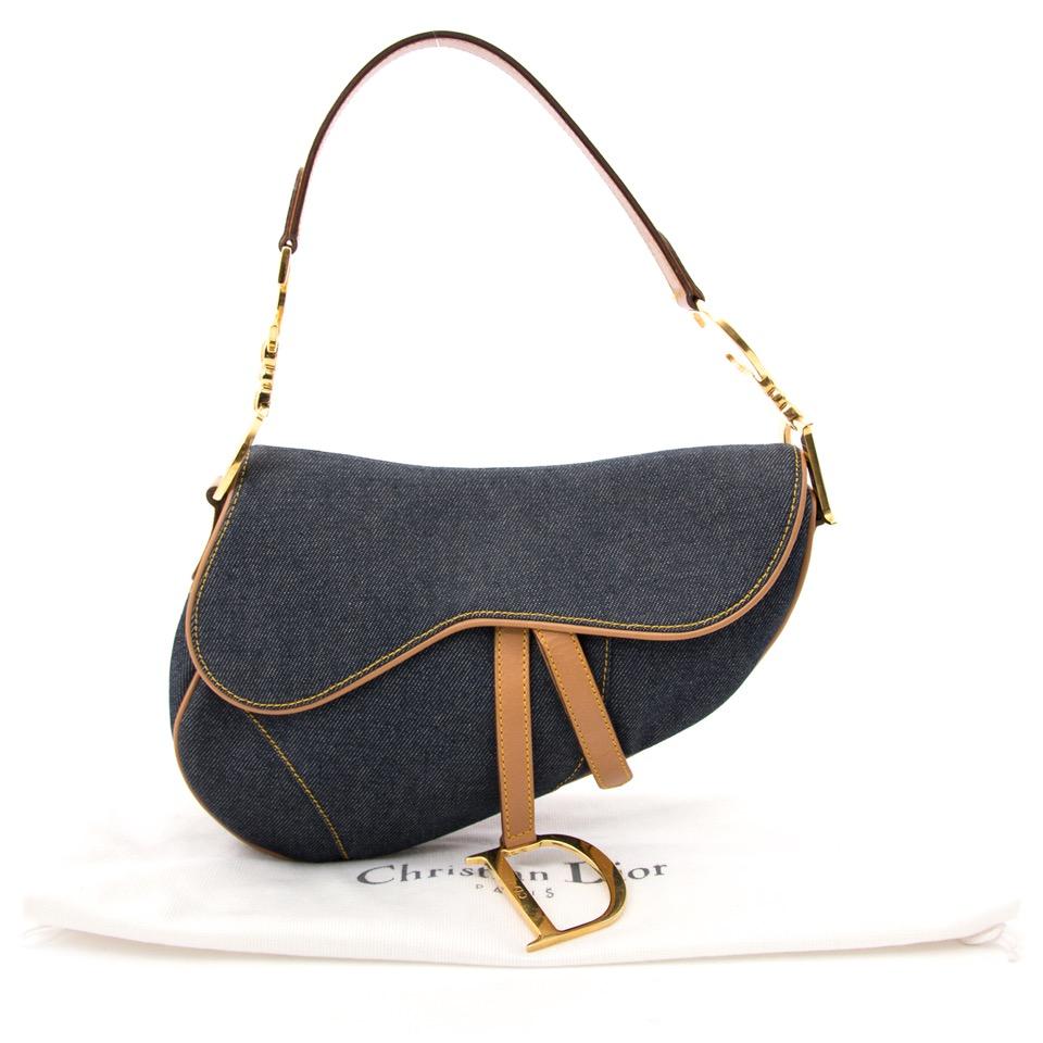 623d0a97729e Acheter le Dior denim saddle sac à main sur www.labellov.com au meilleur
