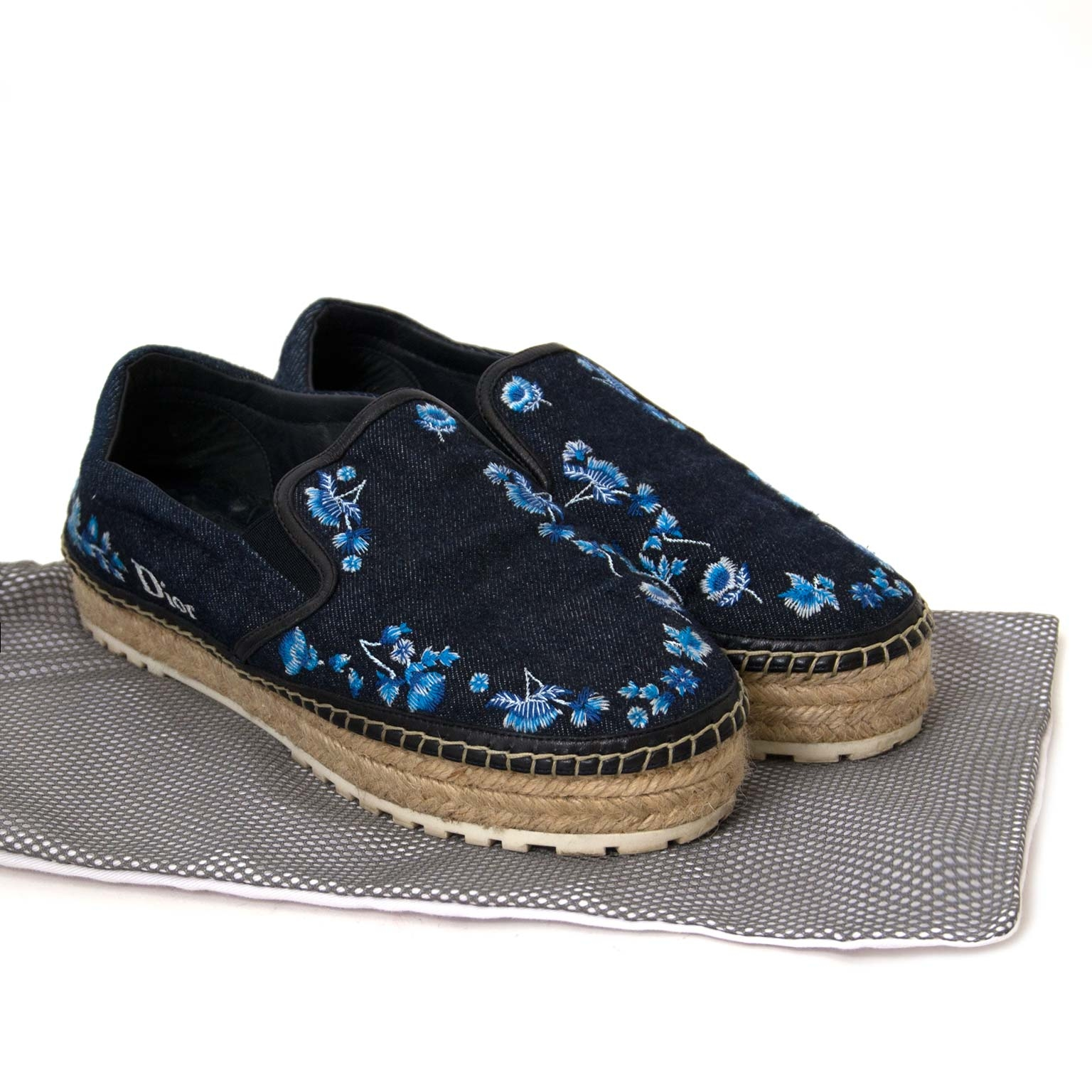 dior prairie espadrilles now online at labellov vintage fashion webshop belgium