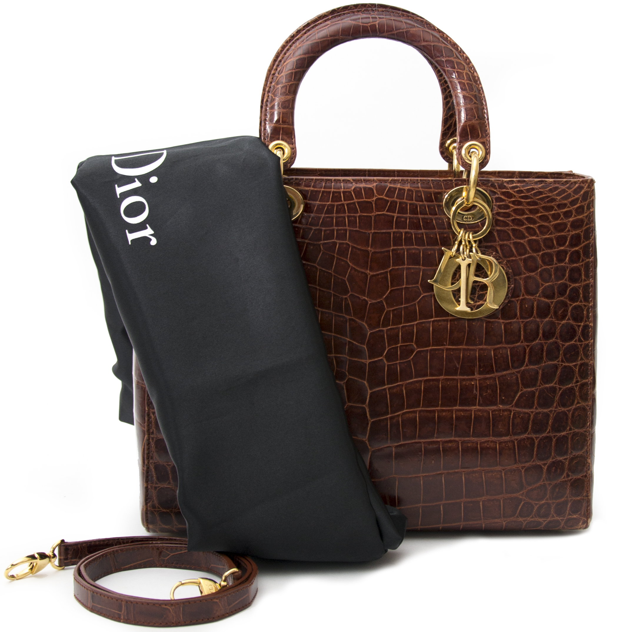 searching for secondhand vintage luxury at the best price ? wolrdwide shipping Dior Croco Lady Dior