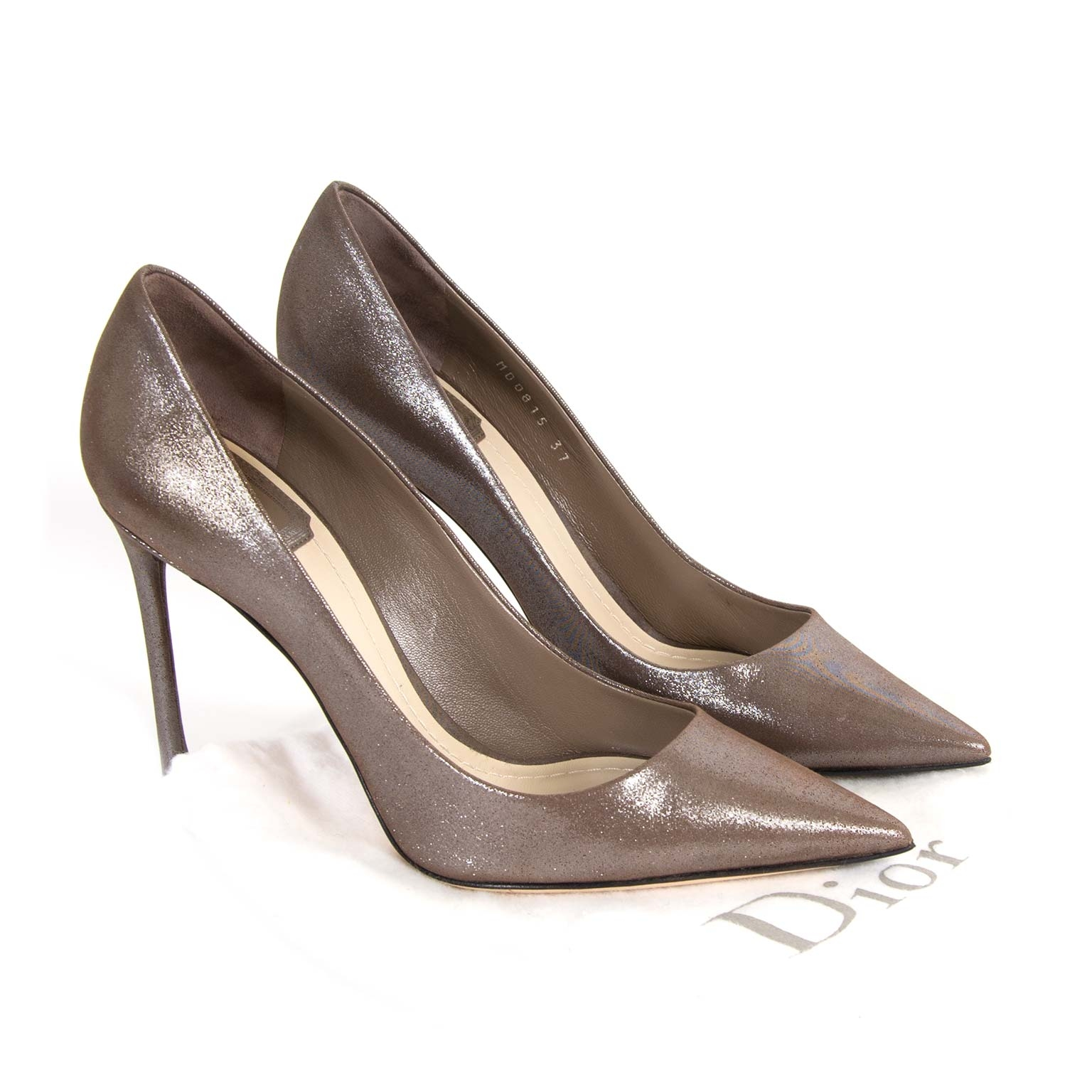 Christian Dior Bronze Pumps - Size 37 now for sale at labellov vintage fashion webshop belgium