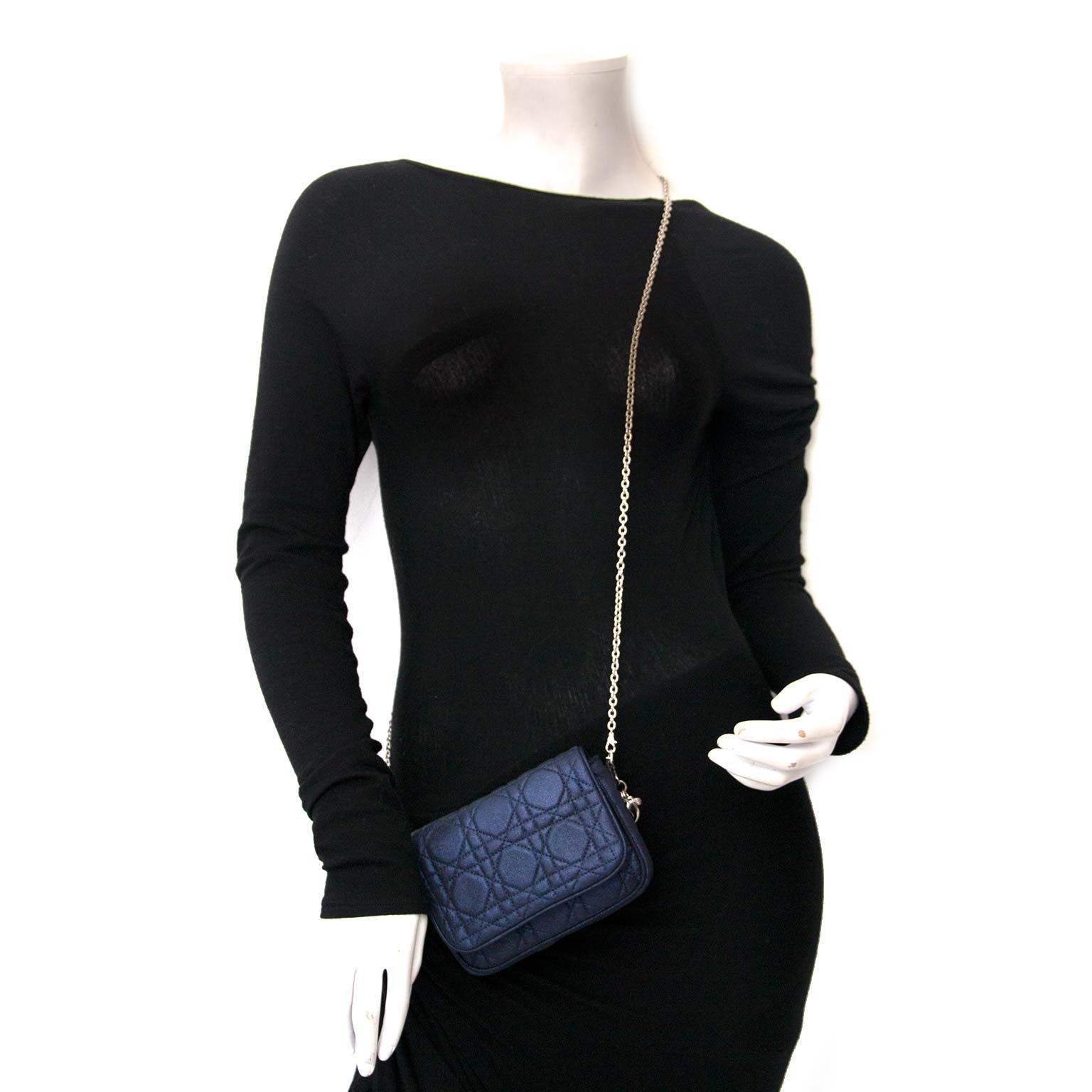 5dd528008320 ... Dior Blue Metallic Crossbody Bag Buy authentic designer Dior secondhand bags  at Labellov at the best