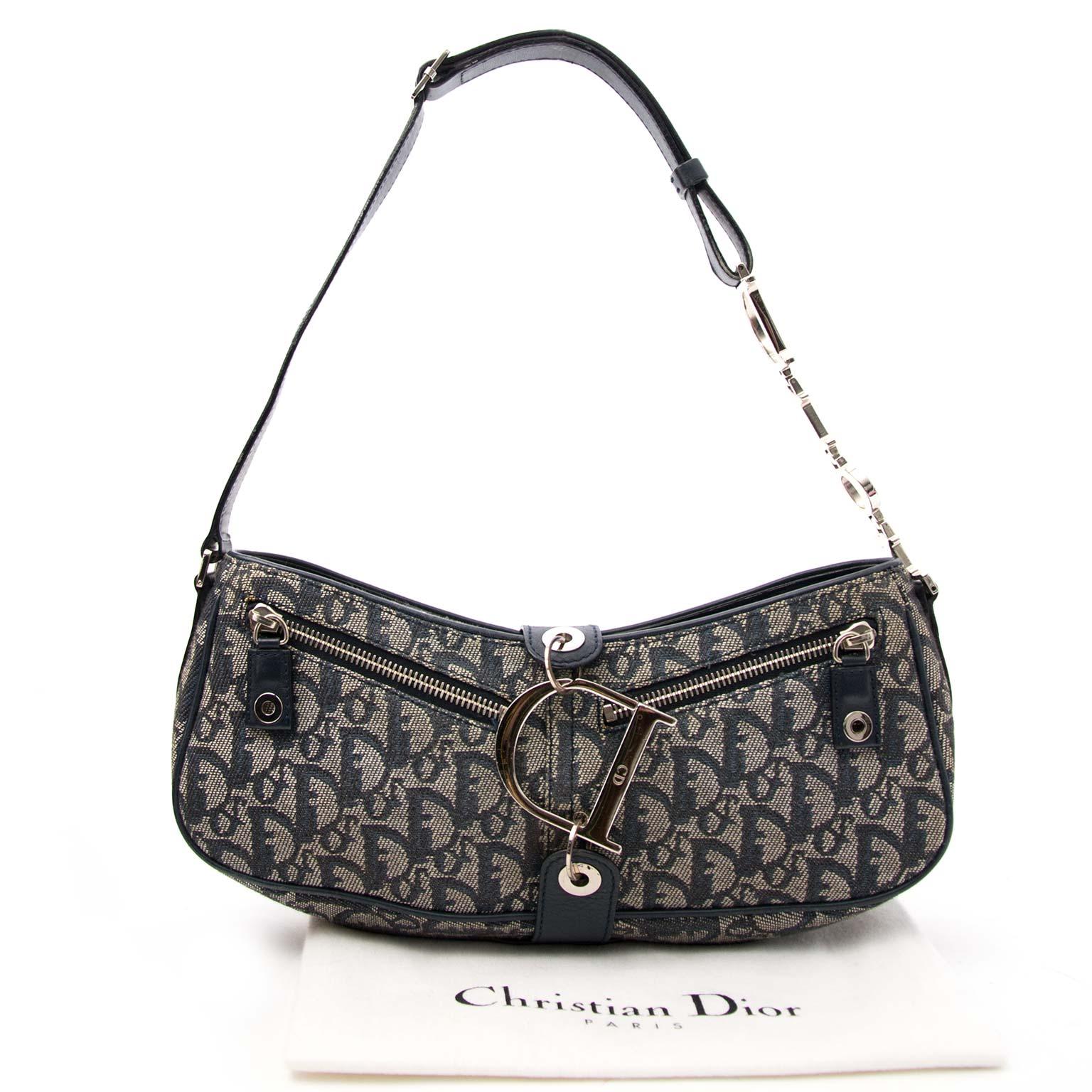 92c17bae8236 ... Dior Monogram Saddle Bag online aan de beste prijs tweedehands  handtassen