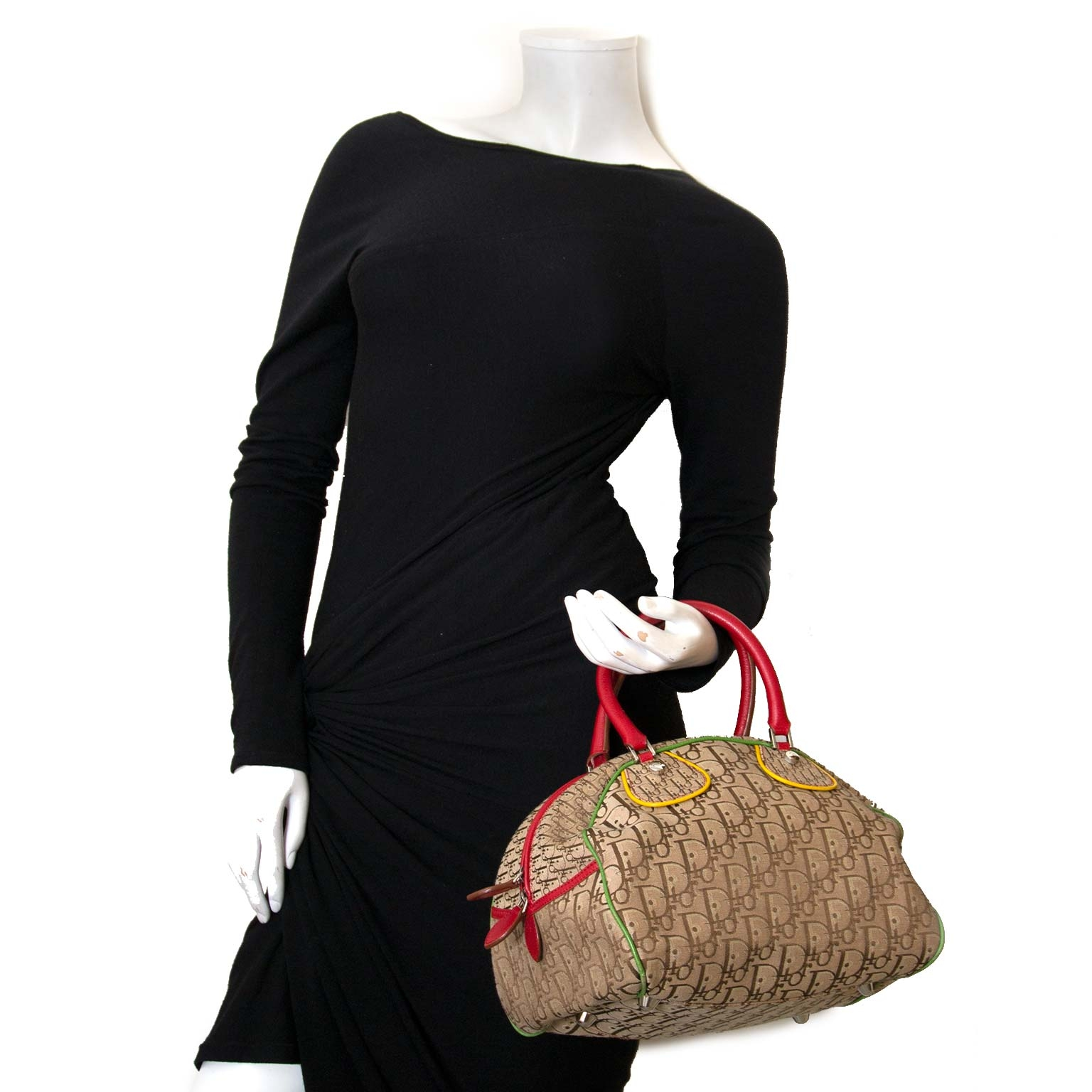 christian dior rasta monogram bowling bag for sale at labellov vintage fashion webshop belgium