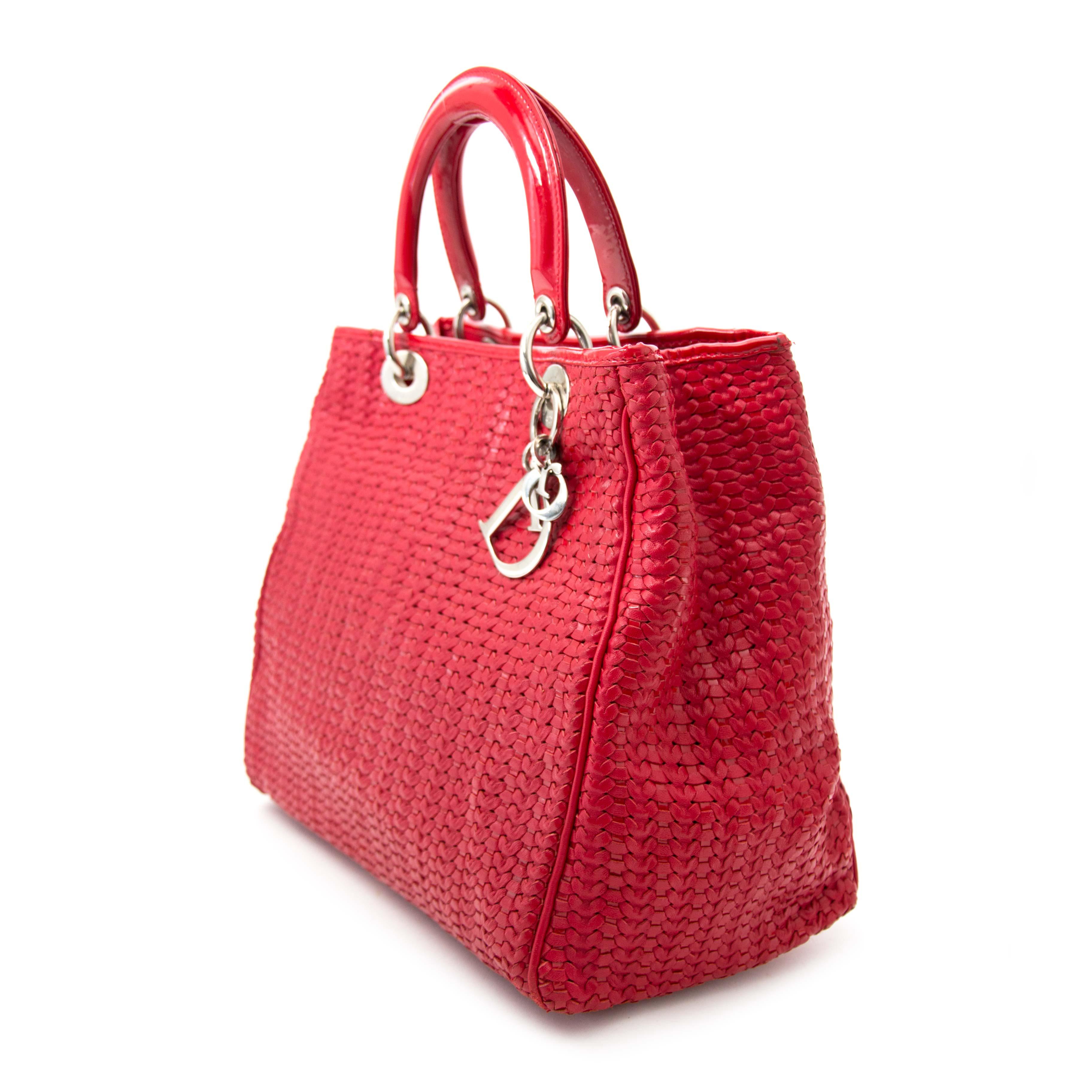 9c8d867e77 koop veilig online aan de beste prijs tweedehands Christian Dior Woven Soft  Lady Dior pour le meilleur prix sac a main Christian Dior Woven Soft Lady  Dior