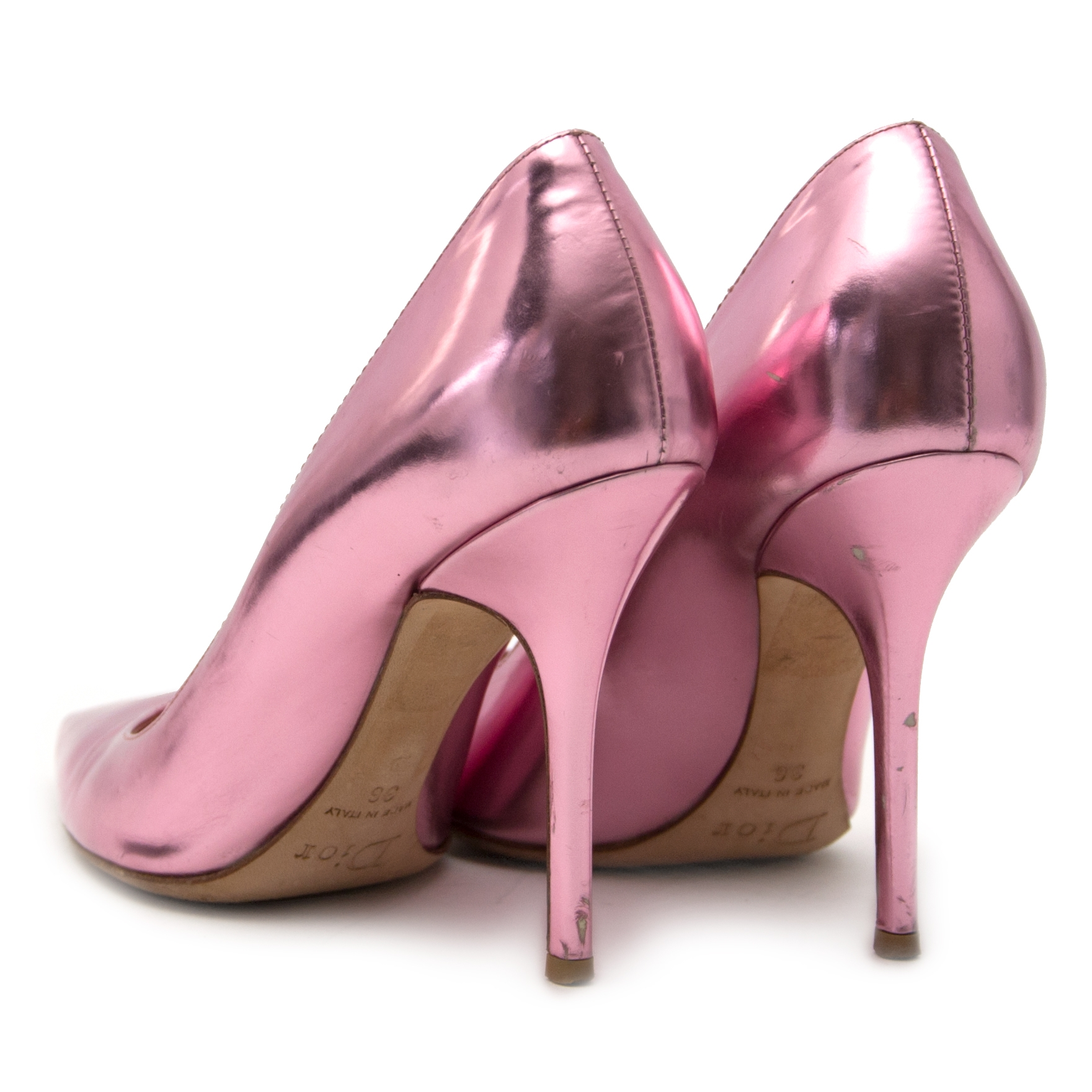 Dior Pink Metallic Pumps - Size 36 online at the best price