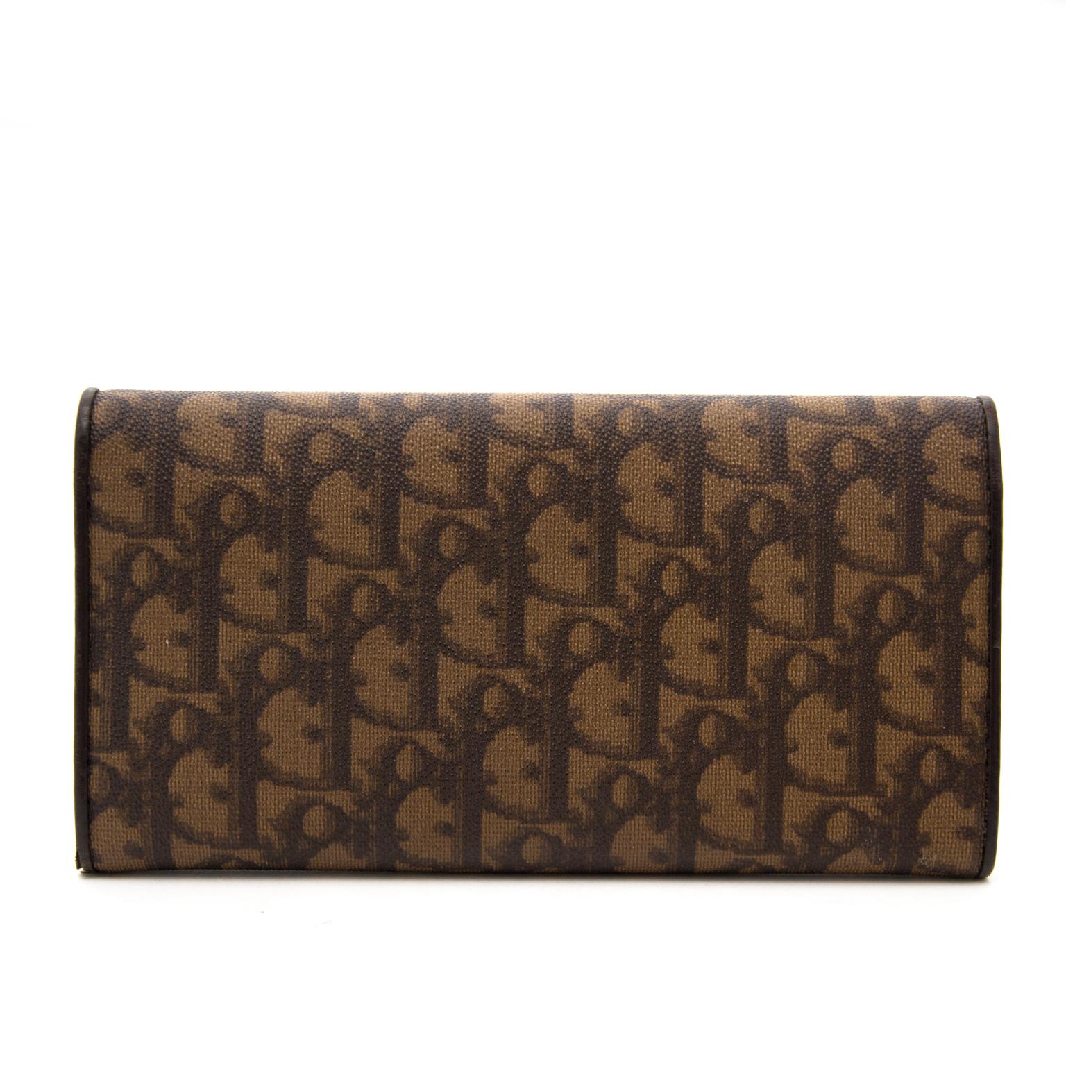 Dior Brown Monogram Wallet te koop in Antwerpen, België en wereldwijd aan de beste prijs