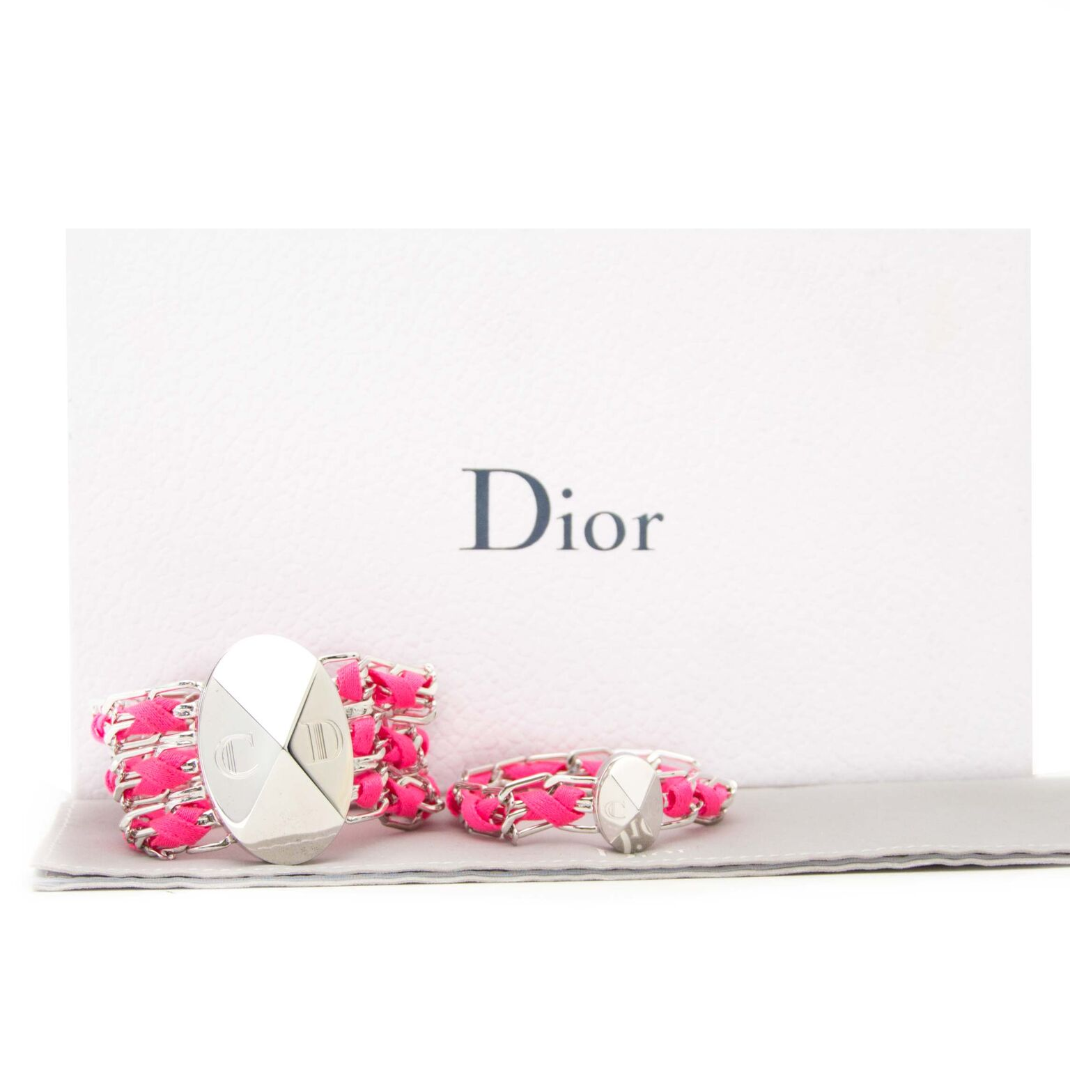 Looking for a gift? Buy these Christian Dior silver bracelets at our safe online webshop labellov.com. Our showroom is located in Antwerp.