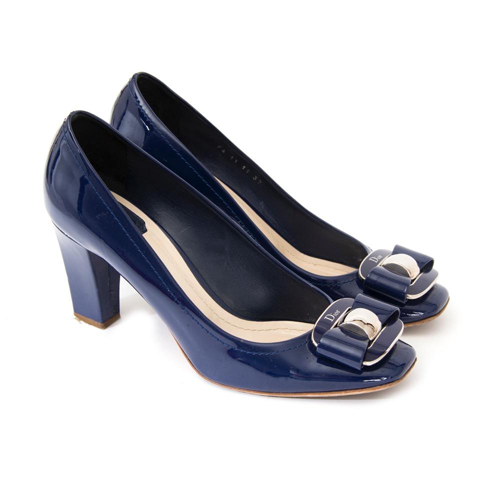 acheter en ligne comme neuf Dior Knot Bleu Foncé Pump
