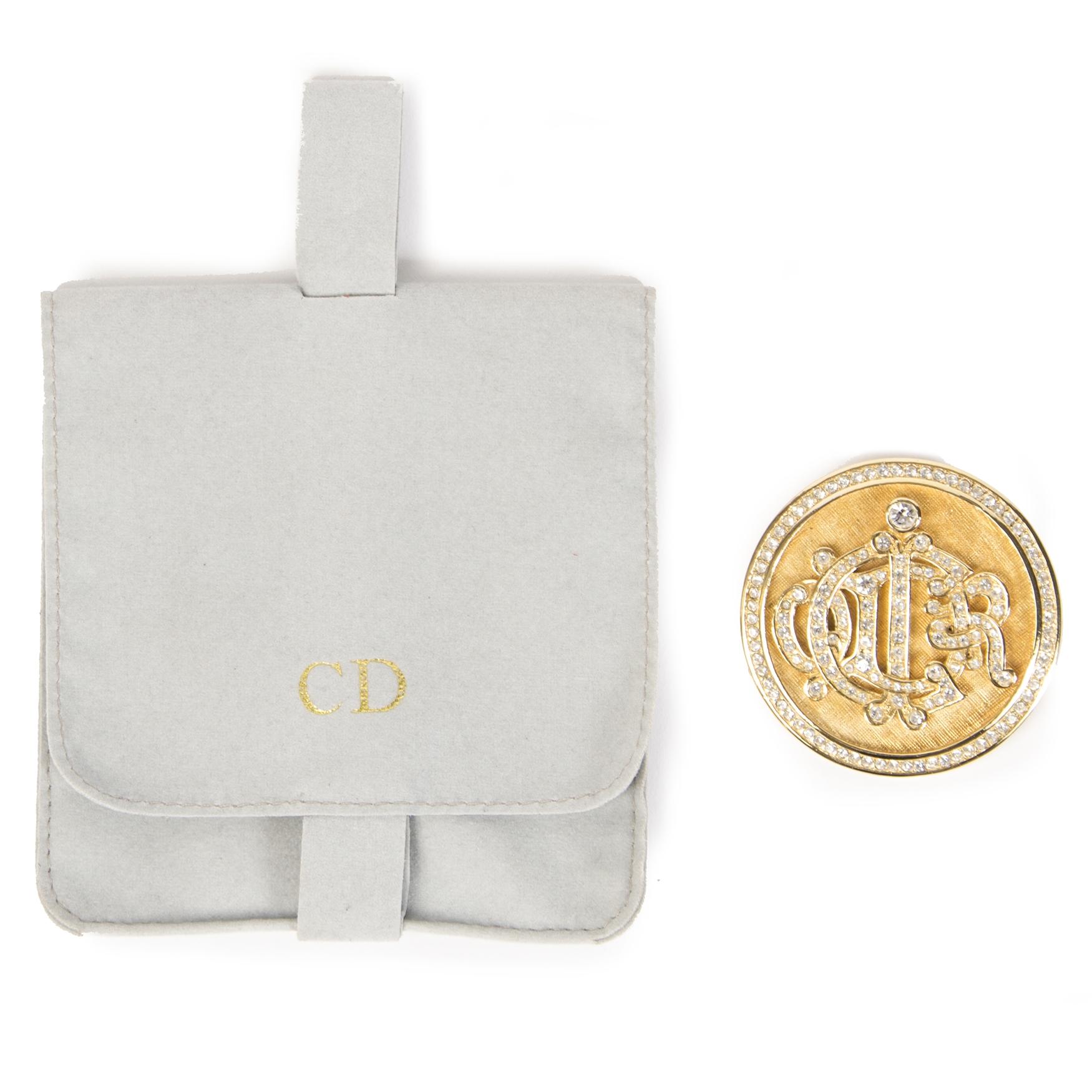 Christian Dior Round Brooch