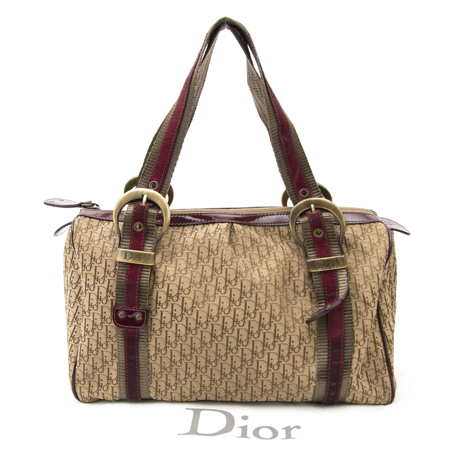 koop veilig online Christian Dior Fabric Monogram Duffel Tote