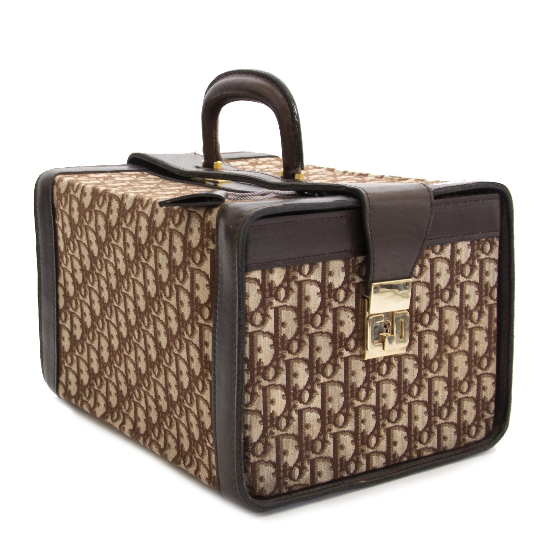 shop safe online your secondhand Christian Dior Brown Monogram Case