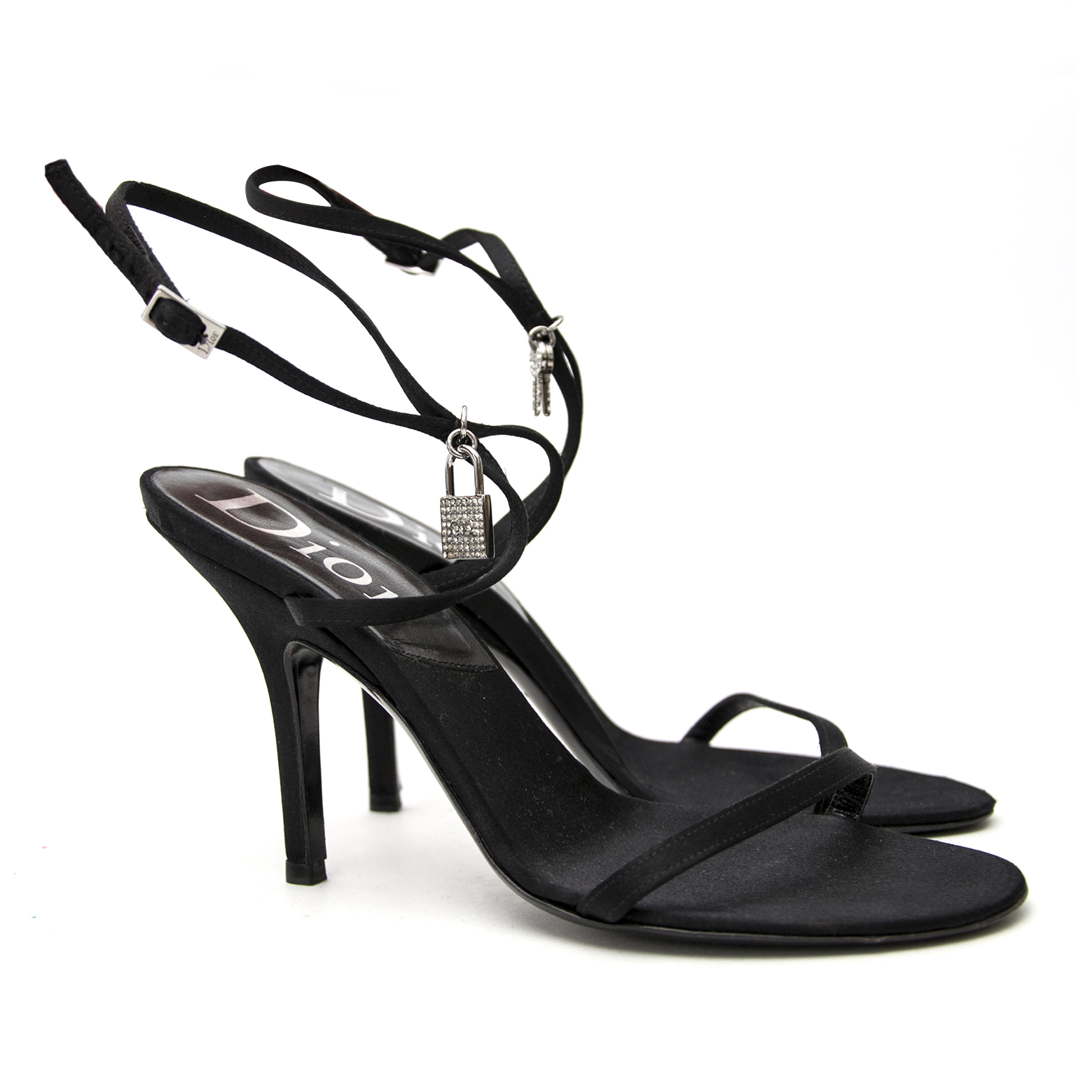 Looking for Dior Black Satin Heels - Size: 36