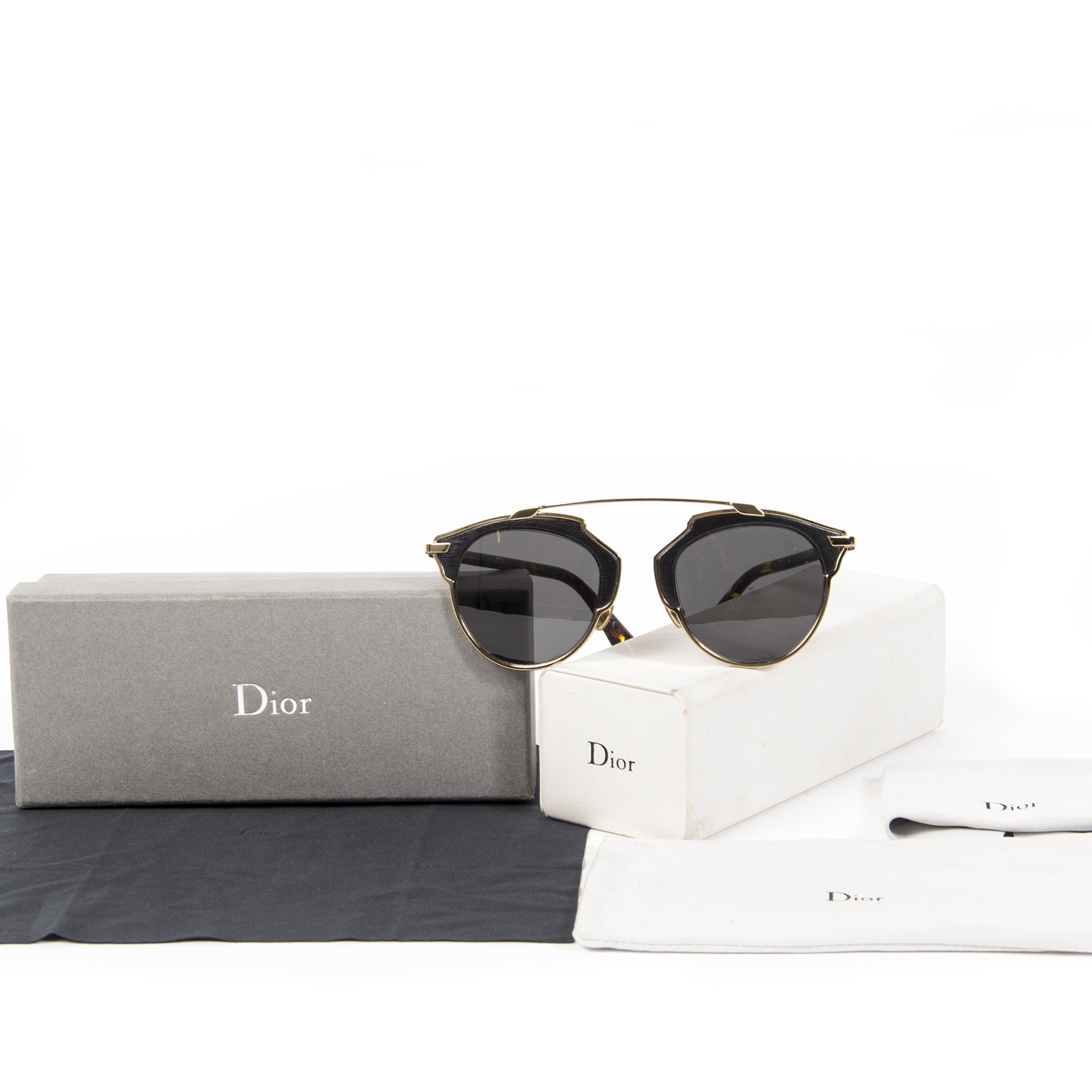 Dior So Real Sunglasses Black Gold