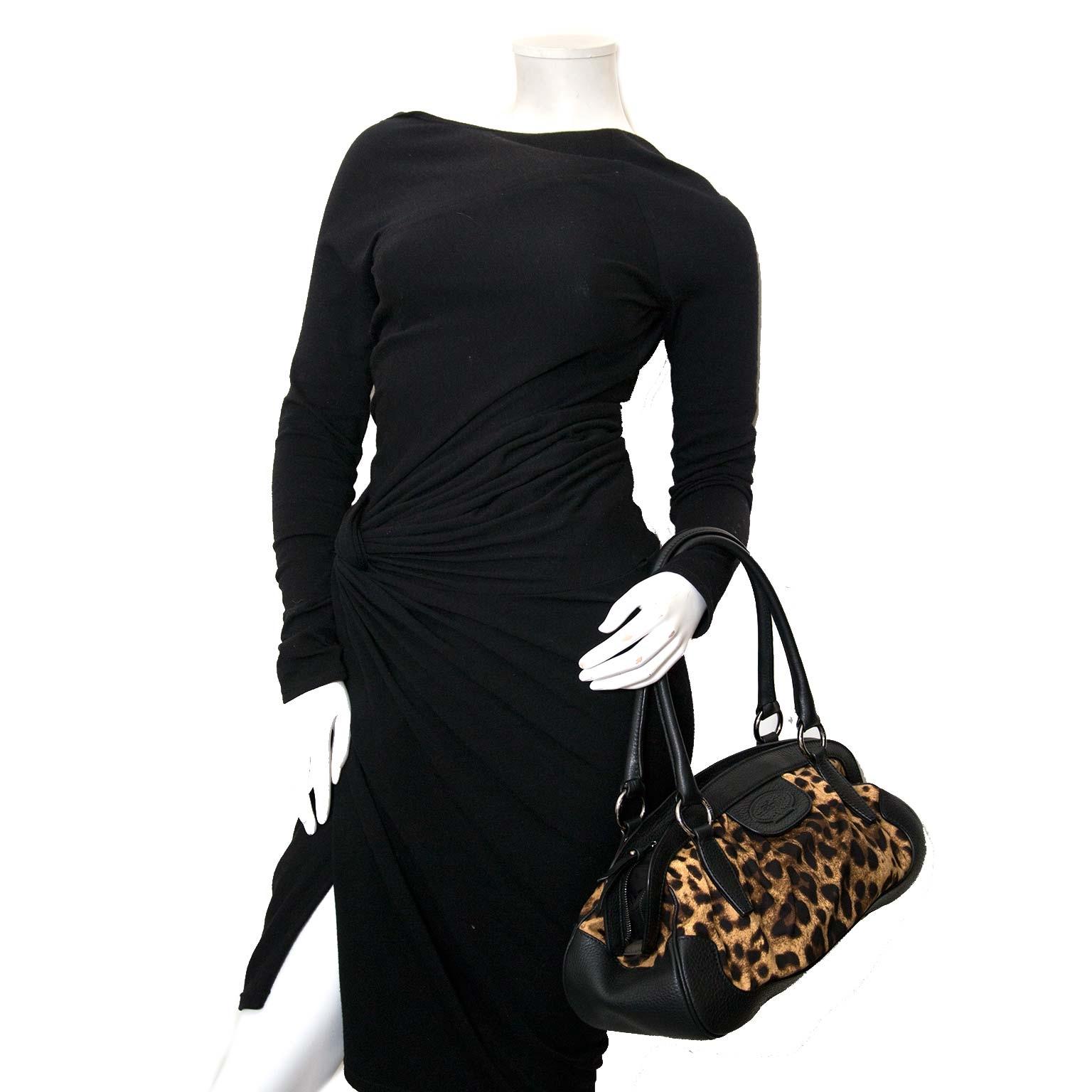 dolce & gabbana animalier leopard hobo tas nu te koop bij labellov vintage mode webshop belgië