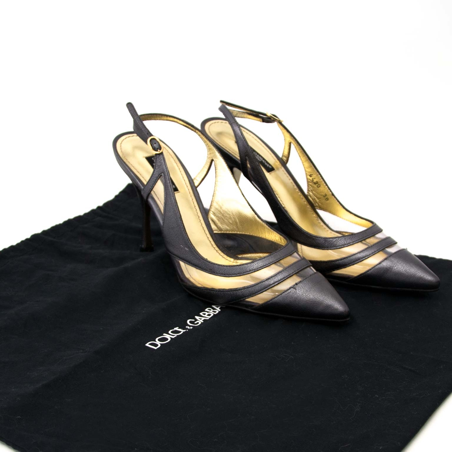 shop safe and secure online on labellov.com docle & gabbana grey leather slingback heels in antwerp