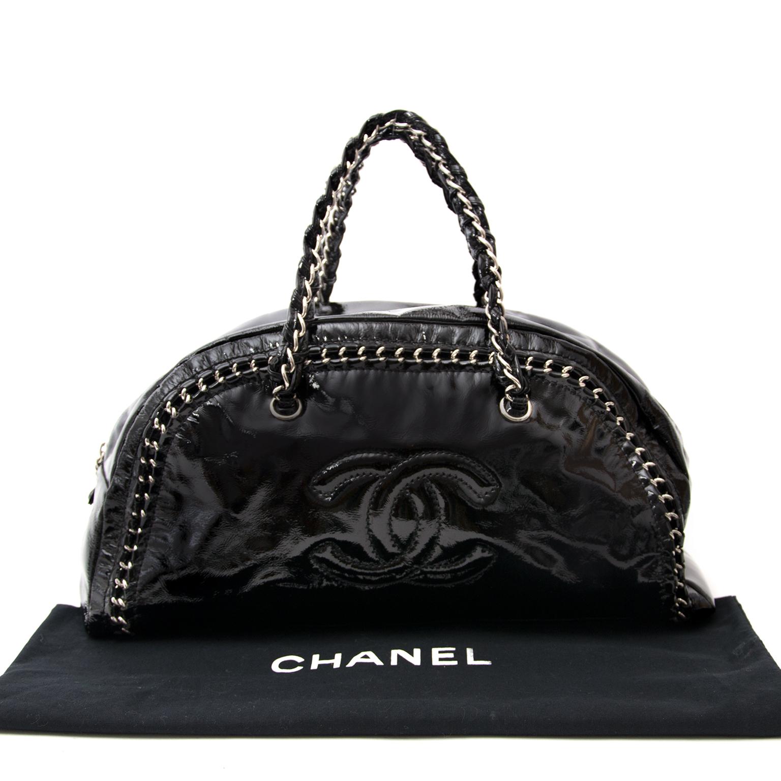 d5296506387ee3 ... koop veilig tweedehands zwarte Chanel handtas aan aan de beste prijs