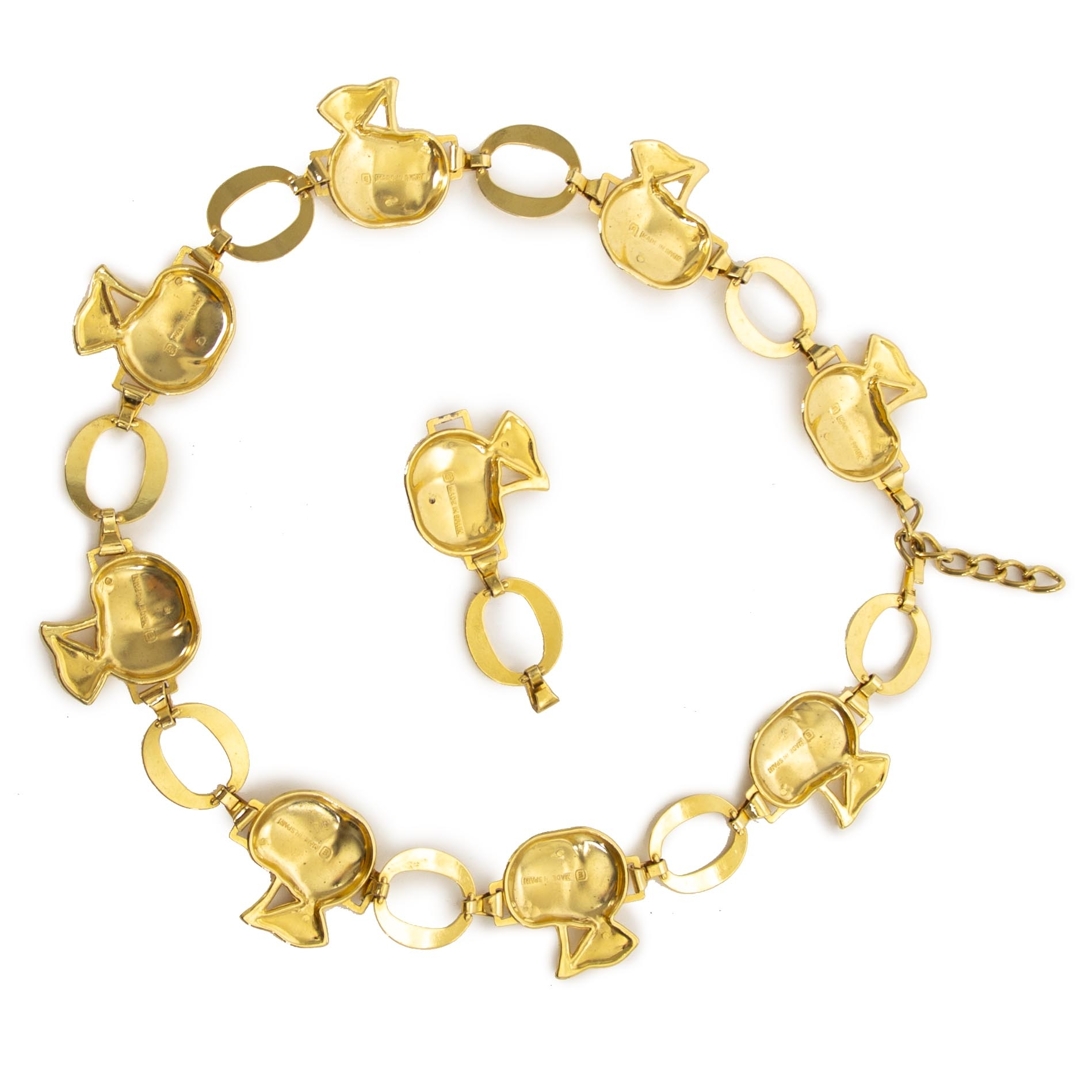 Dolce & Gabbana Gold-Toned Apple Chain Belt now for sale at labellov vintage fashion webshop belgium