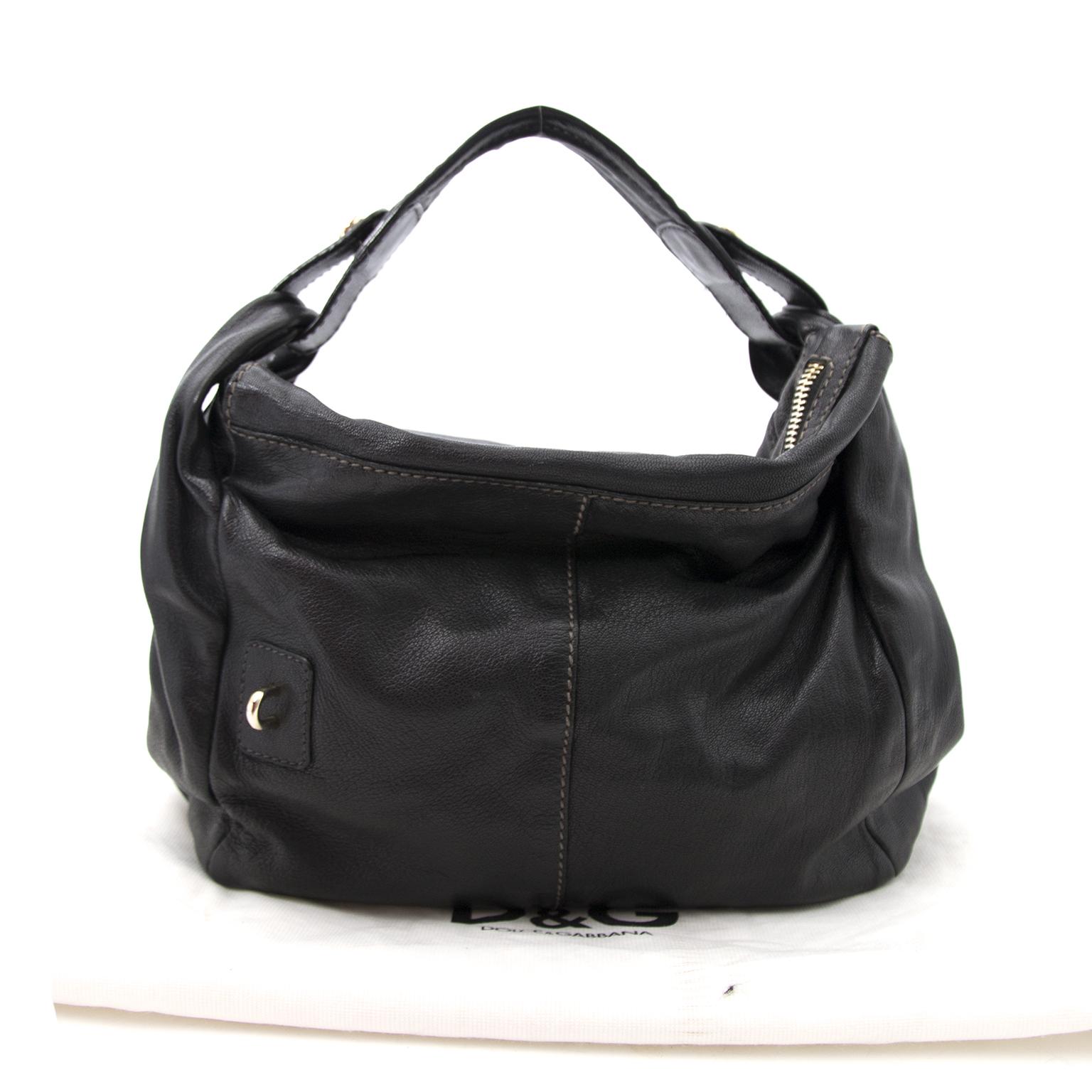 Zwarte Lederen Dolce & Gabbana Schouderhandtas nu online op labellov.com tegen de beste prijs.