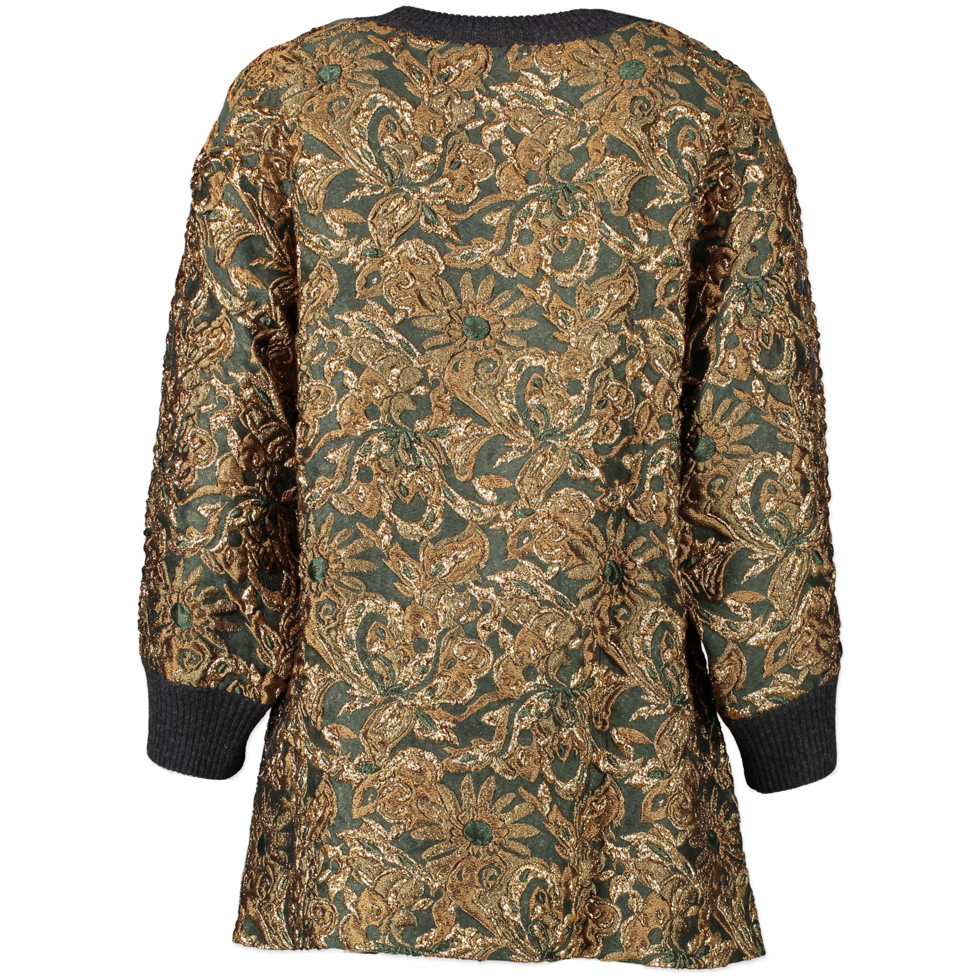 Are you looking for an authentic designer Dolce & Gabbana Green And Gold Sweater - Size IT38