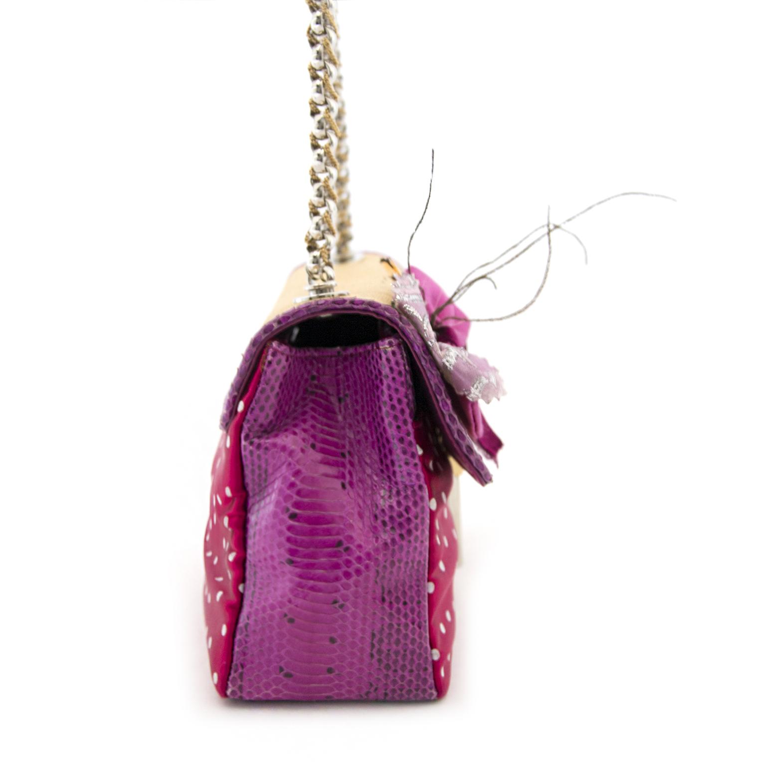 dolce & gabbana pink snake polkadot bag now online at labellov.com