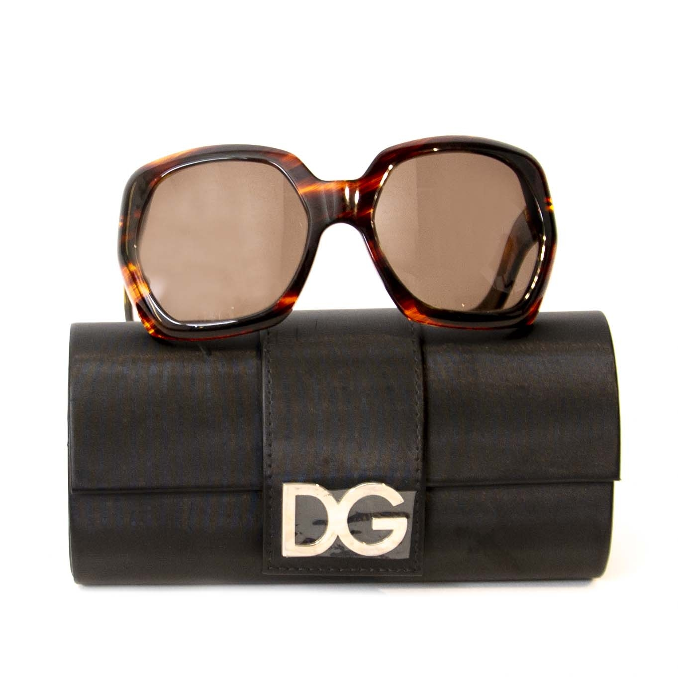 acheter en ligne seconde main Dolce & Gabbana Brown Sunglasses