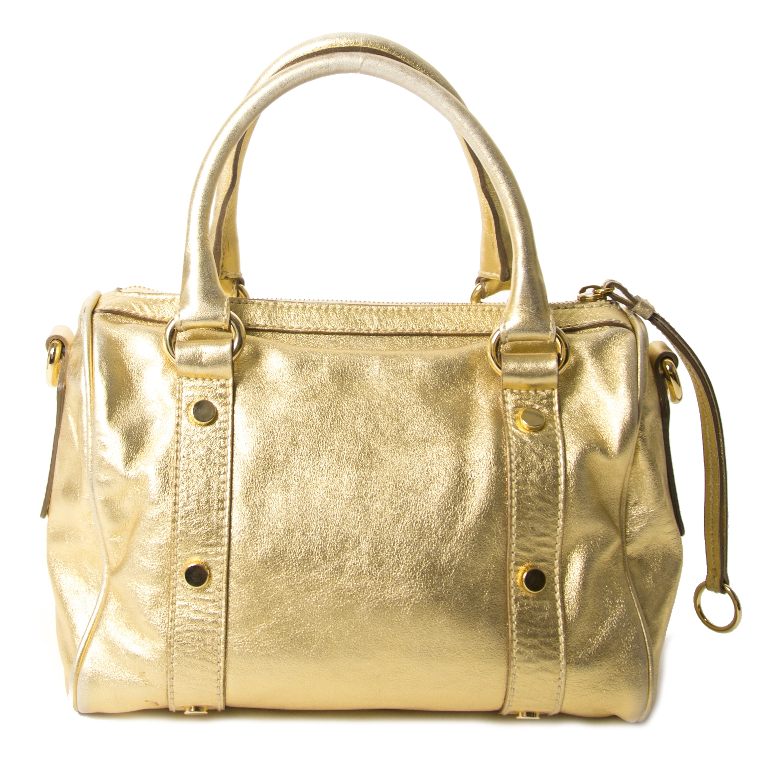 Koop uw authentieke Dolce & Gabbana Gold Metallic Speedy Bag