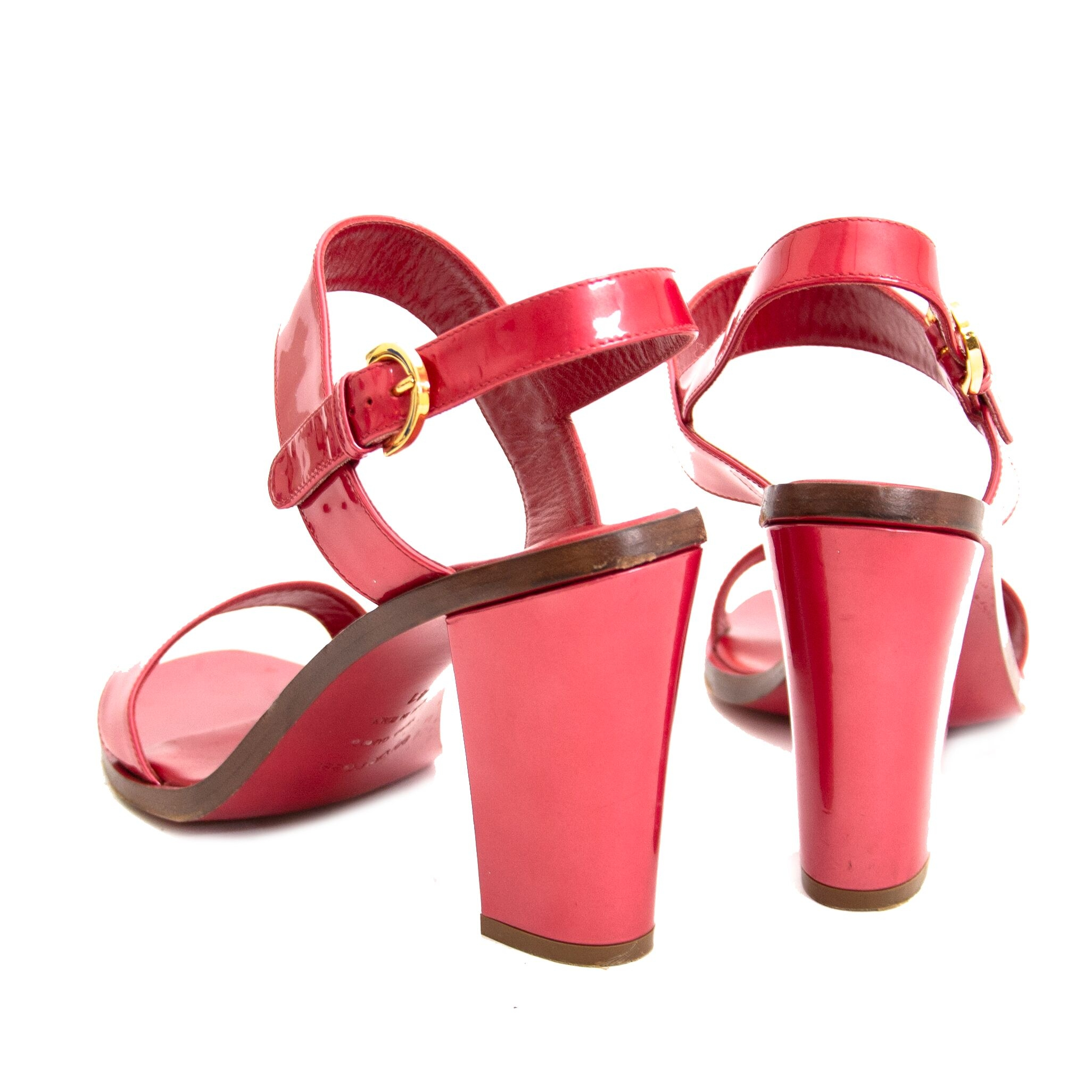 Buy authentic second hand Sergio Rossi Red Sandals with heel at online webshop LabelLOV