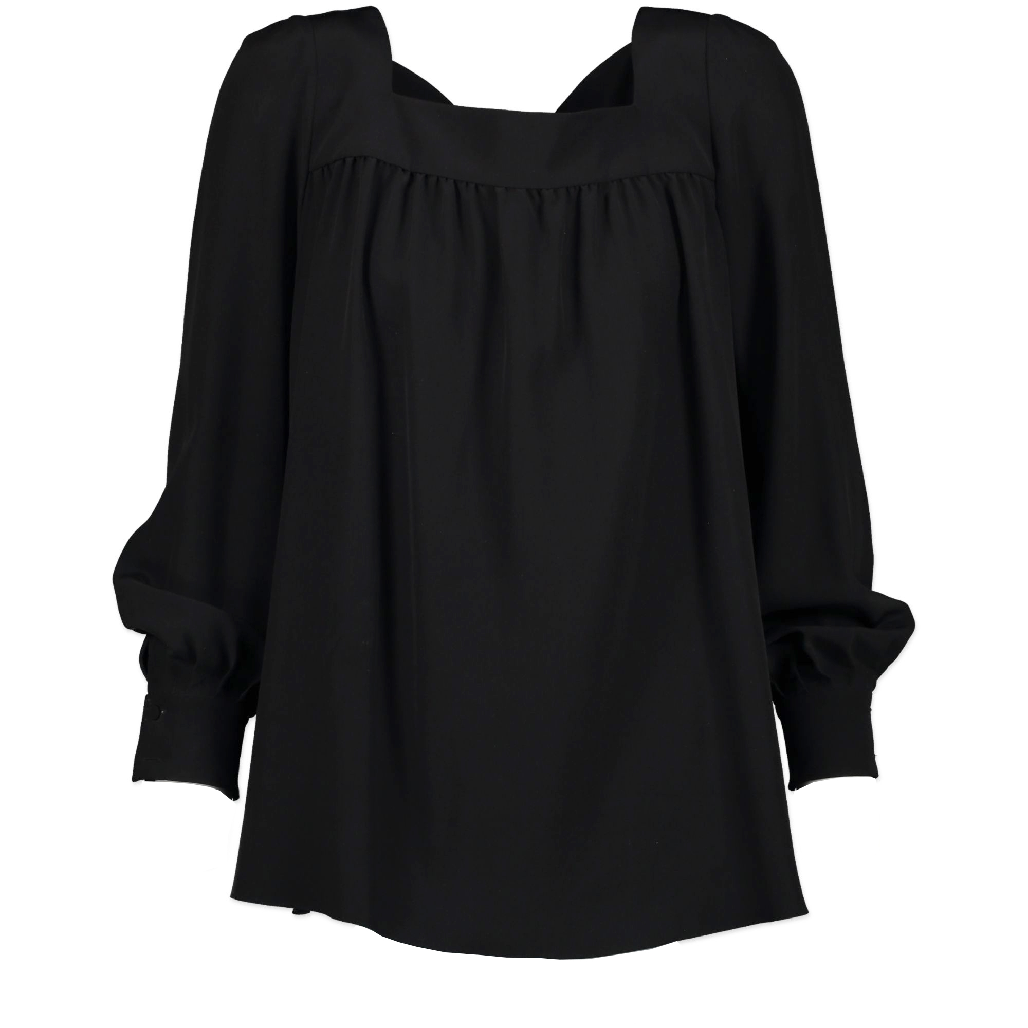 Saint Laurent Black Silk Blouse - Size 34