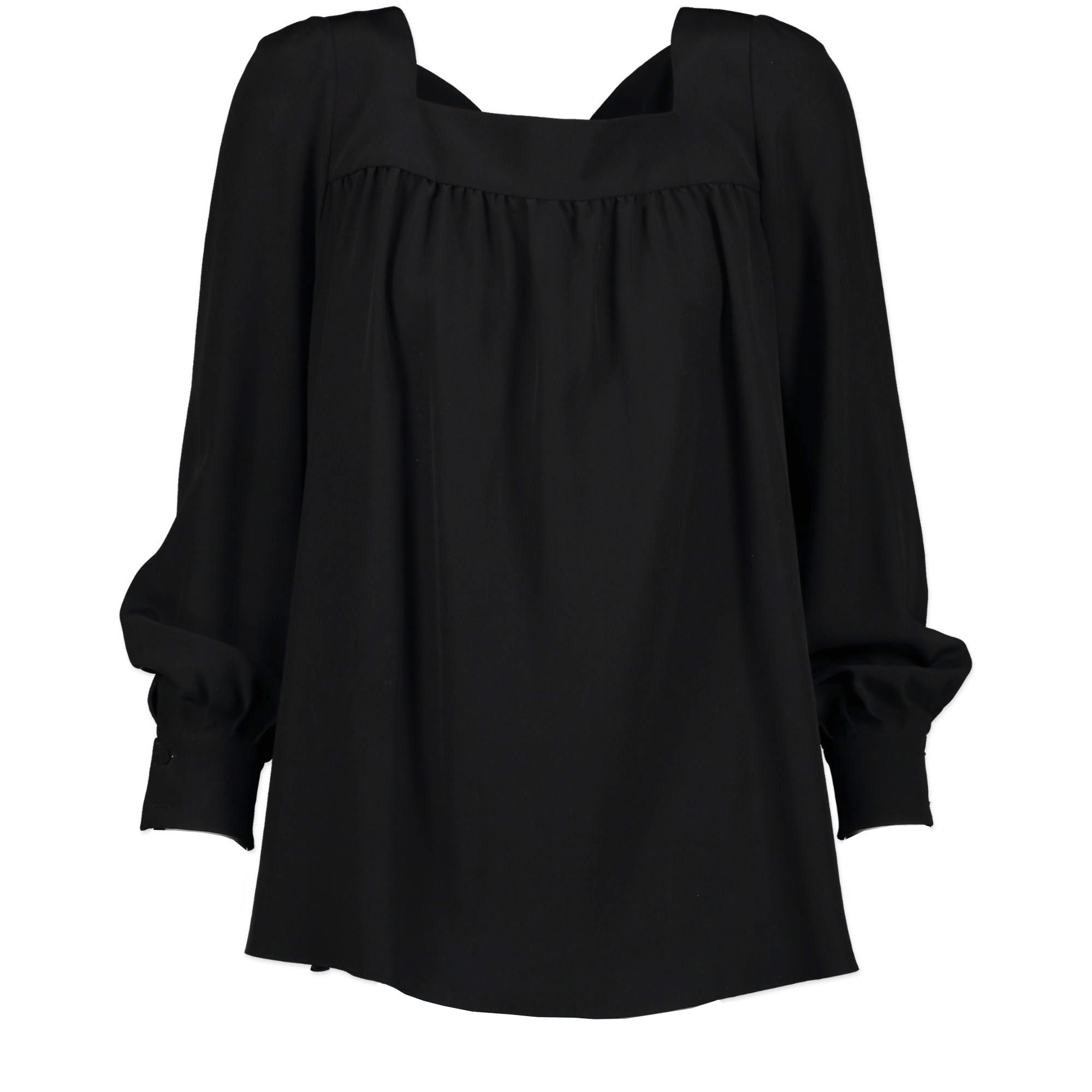 Saint Laurent Black Silk Blouse - Size 34