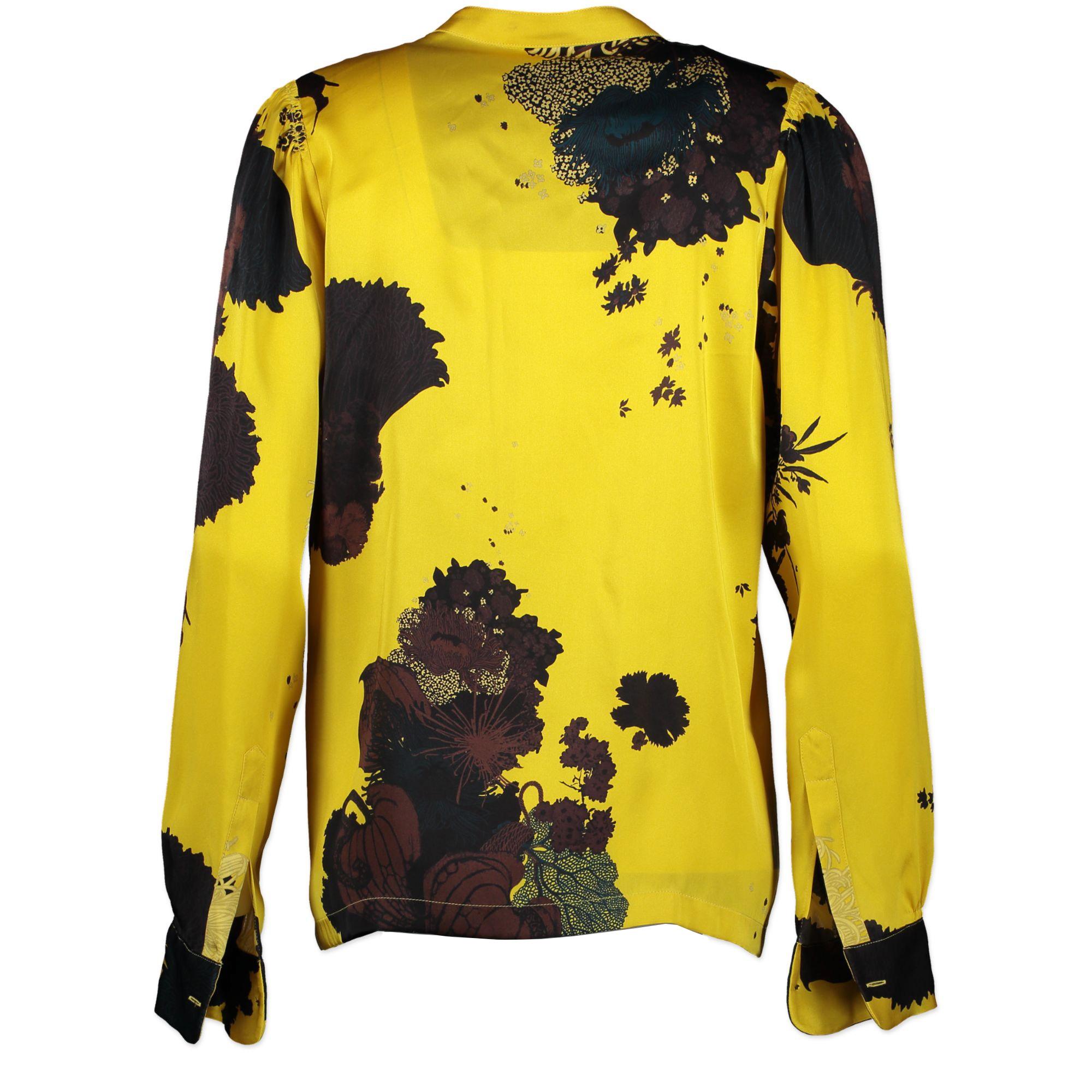 Dries Van Noten Yellow Silk Blouse - Size 36