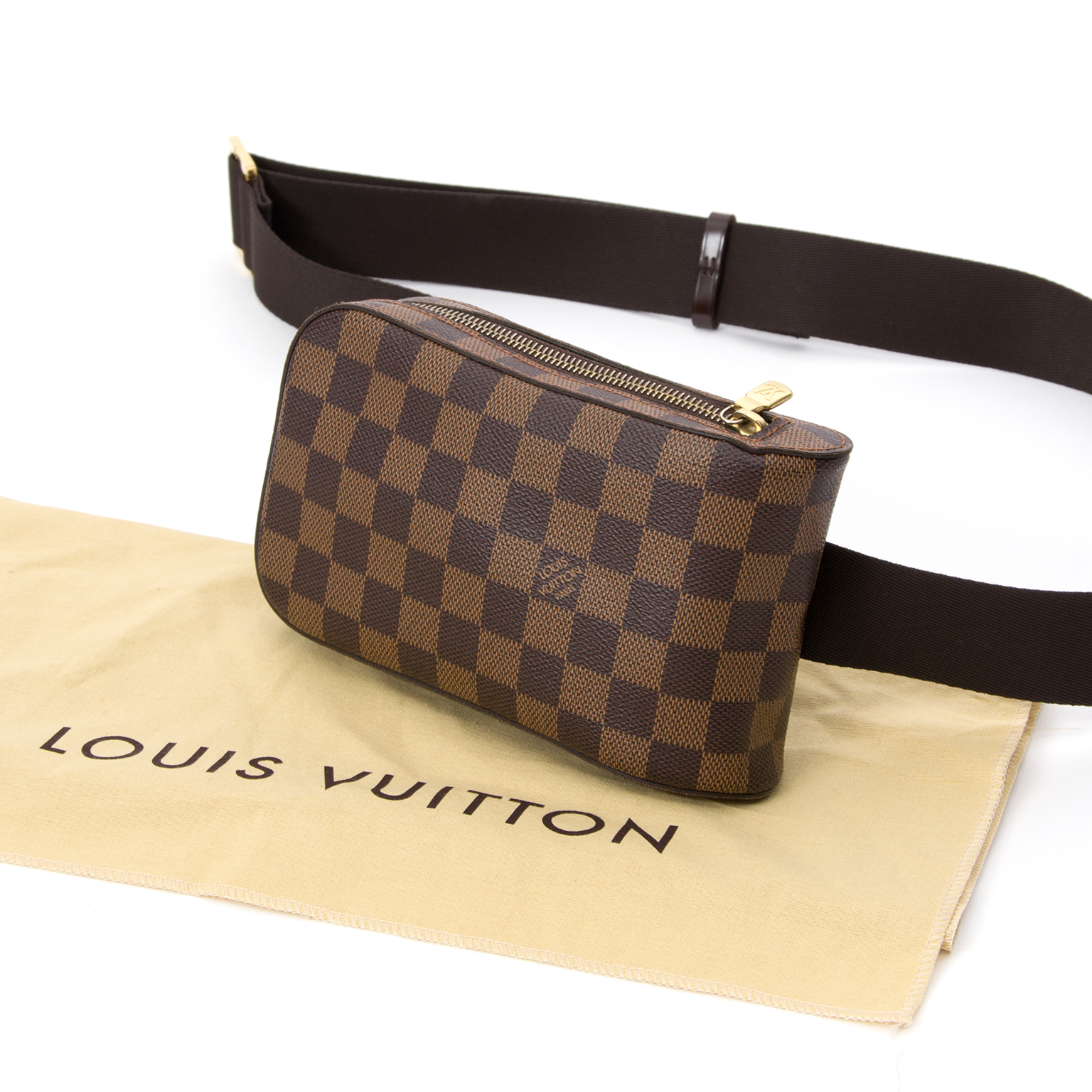 e1b183c02413 ... Louis Vuitton Damier Ebene  Geronimos  Bag LabelLOV secondhand safe and  secure online luxury