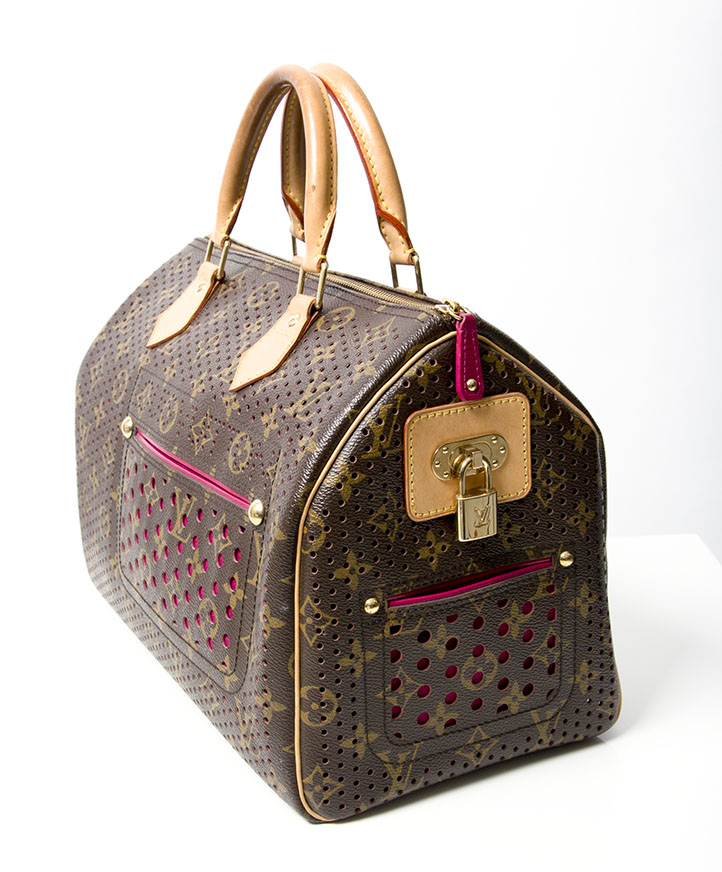 ... second hand limited edition louis vuitton speedy bag with fuchsia or ht  pink lining louis vuitton 12ed7905354