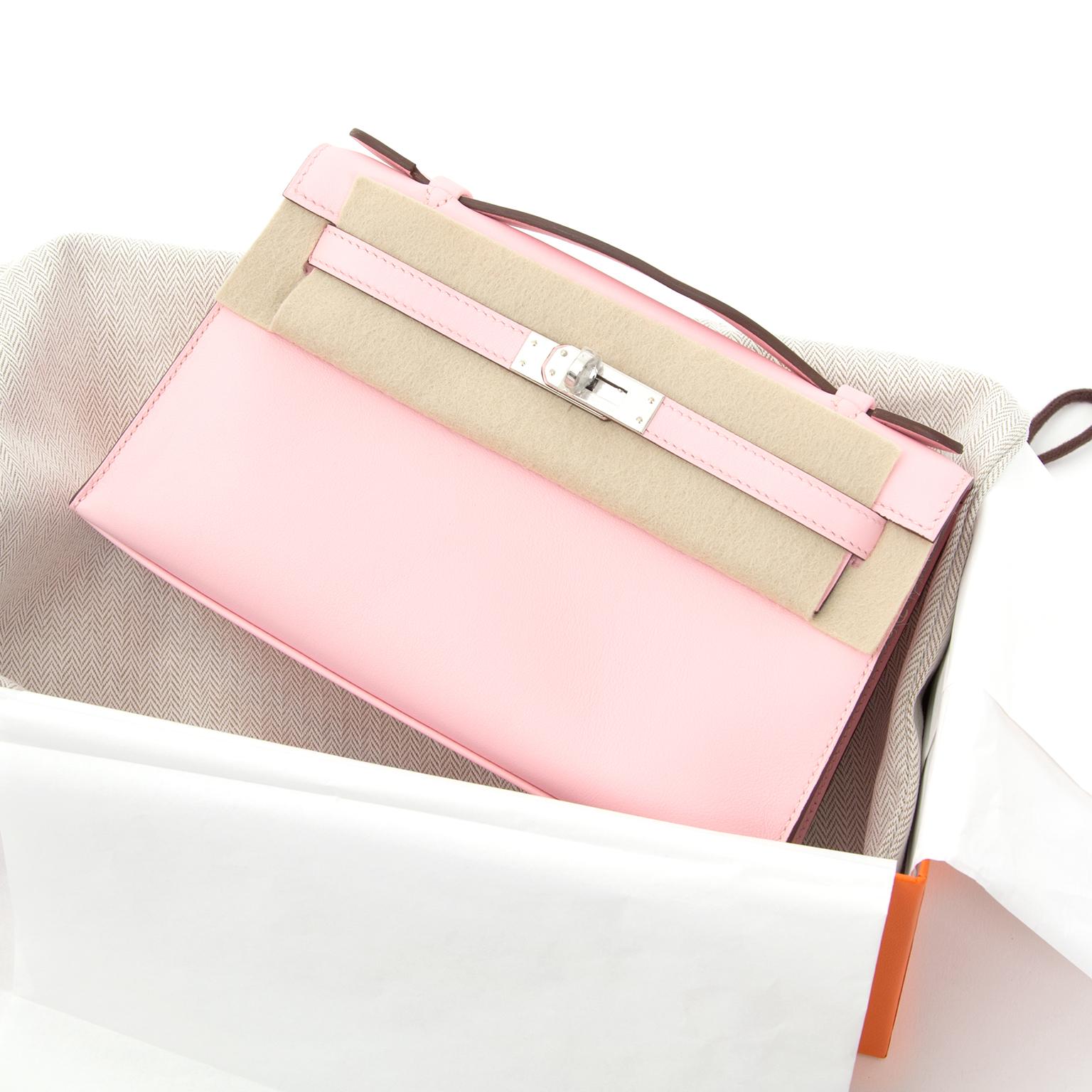 e53186fe5605 ... BRAND NEW Hermès Pochette Kelly Mini veau swift rose sakura worldwide  shipping · Hermes